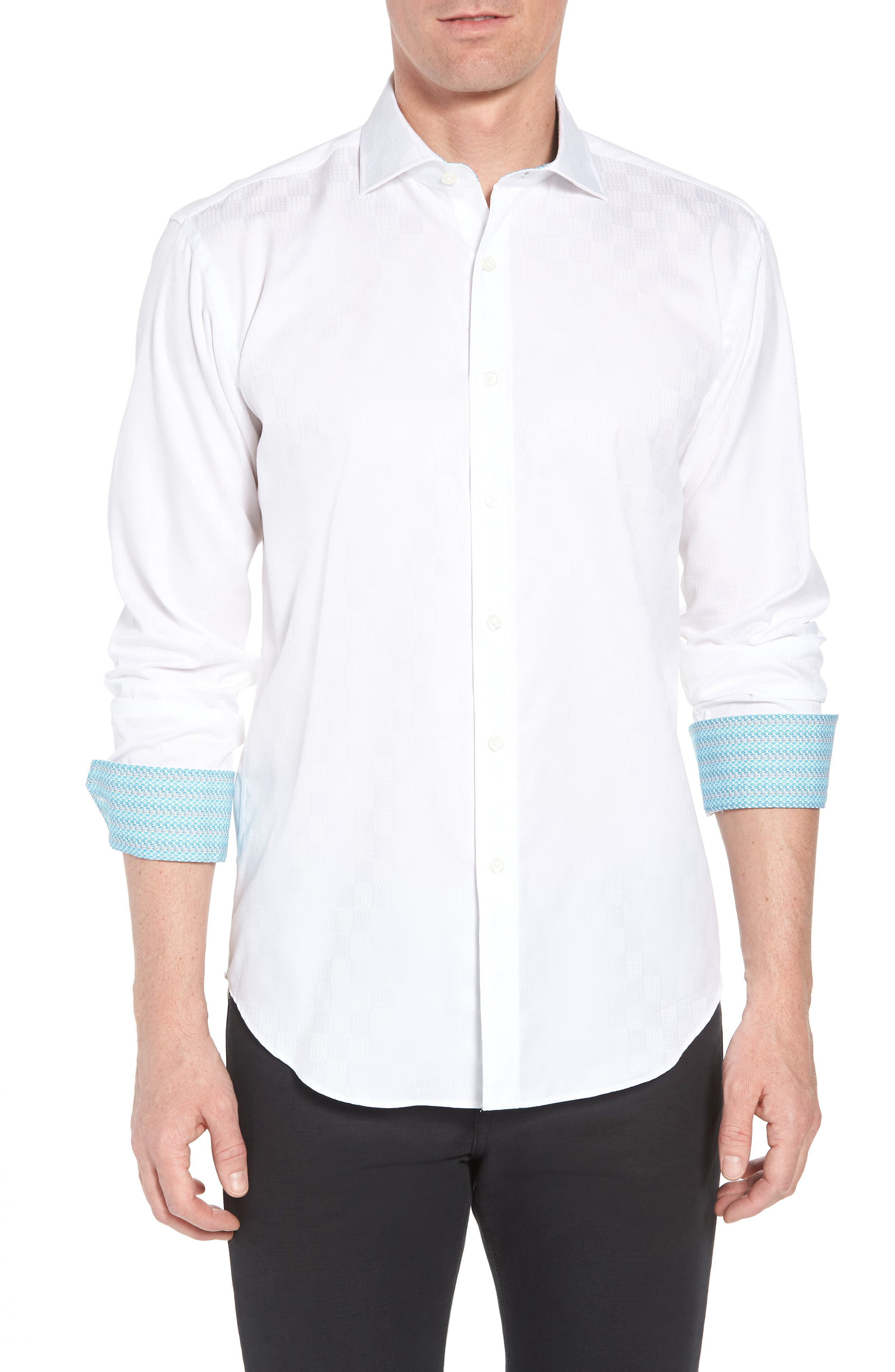 Shaped Fit Sport Shirt,                             Main thumbnail 1, color,                             100