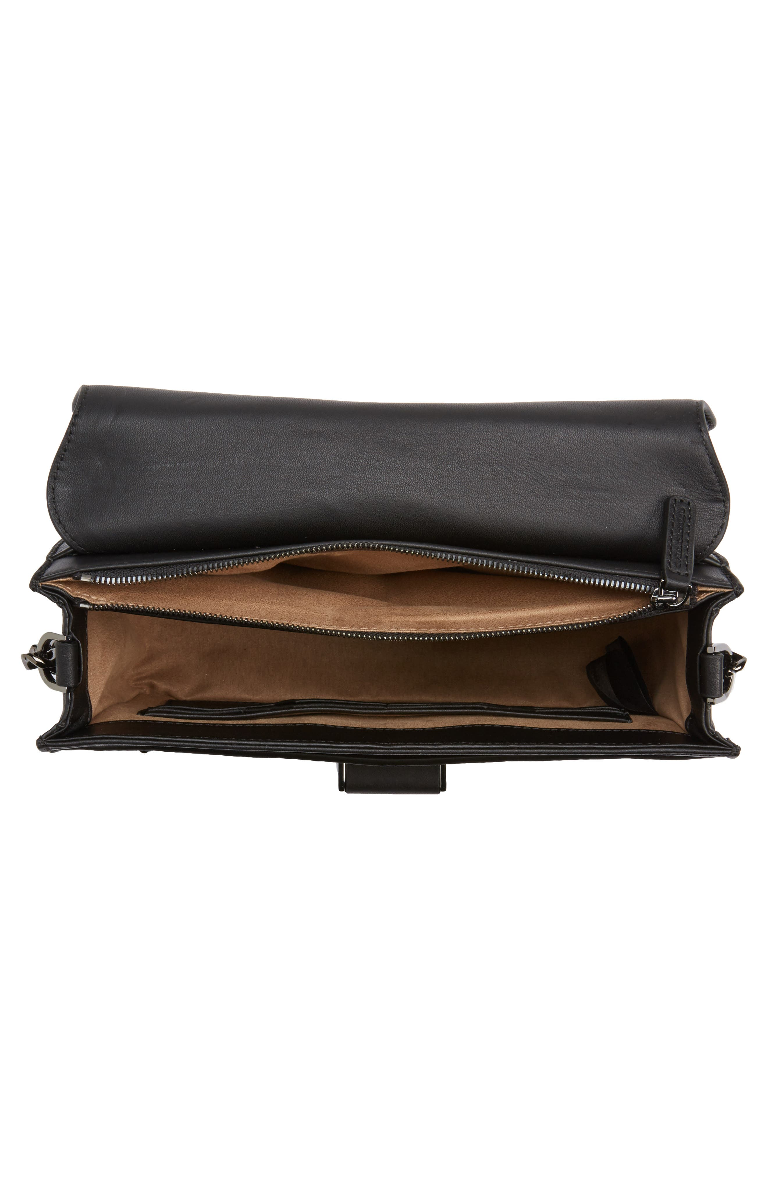 Cortney Nappa Leather Shoulder/Crossbody Bag,                             Alternate thumbnail 13, color,