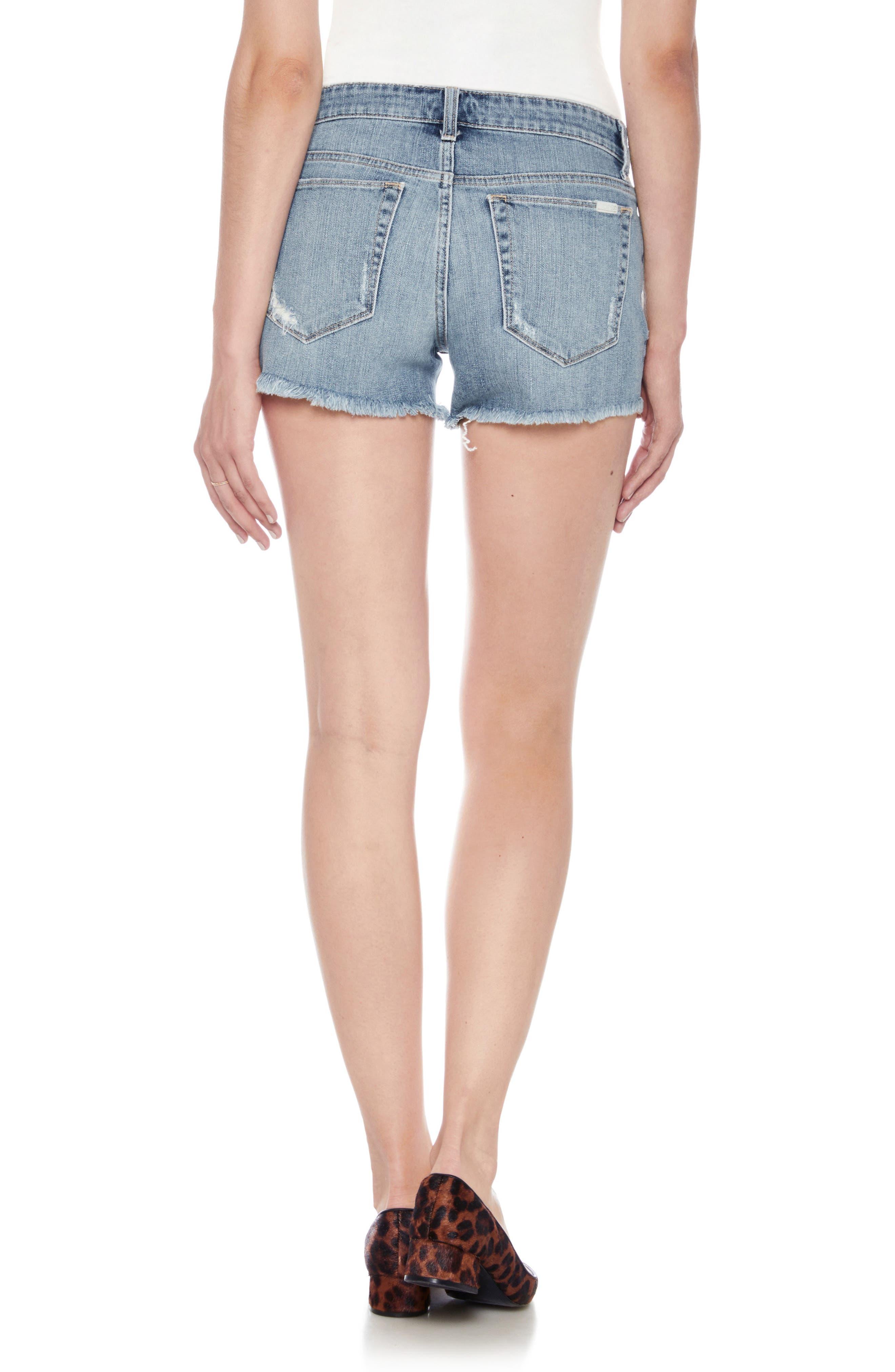 Ozzie Cutoff Denim Shorts,                             Alternate thumbnail 2, color,                             BEXLEY
