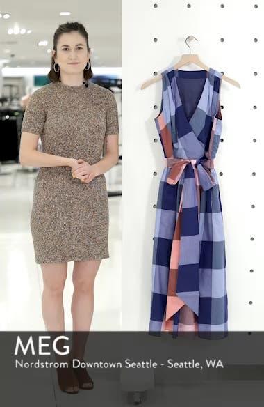 Plaid Cotton Wrap Style Dress, sales video thumbnail