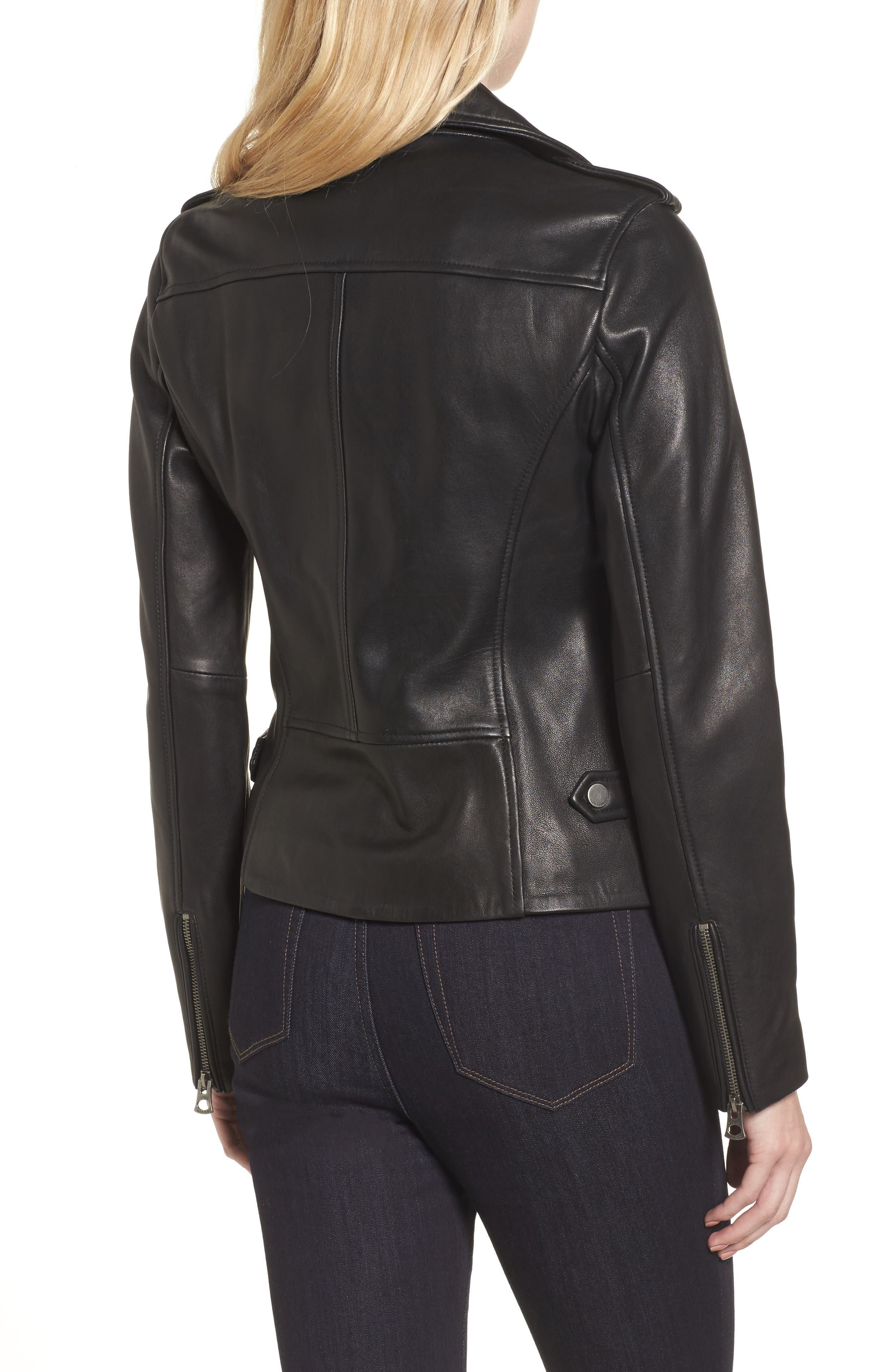 Leather Jacket,                             Alternate thumbnail 2, color,
