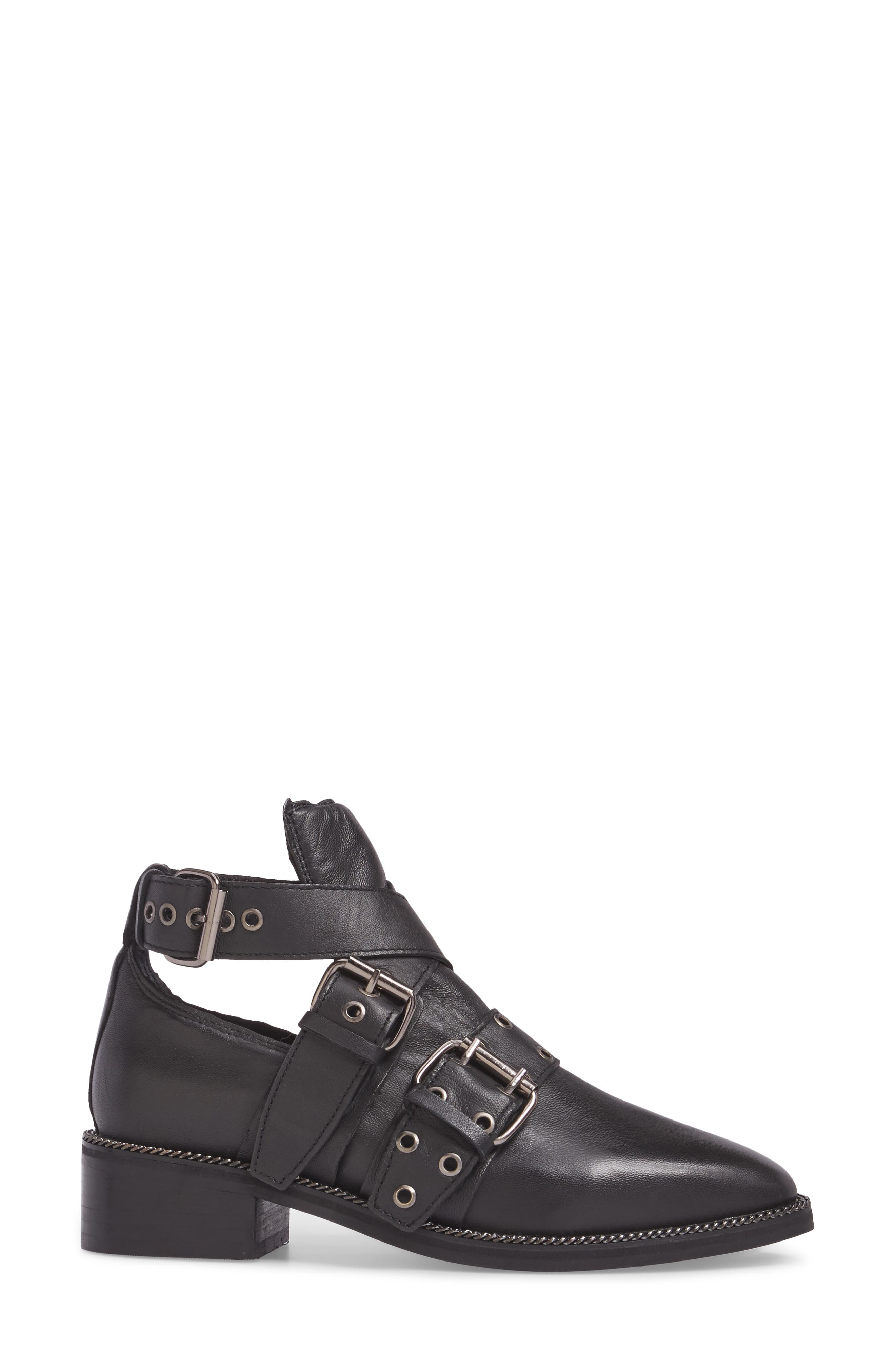 Adrian Cutout Ankle Boot,                             Alternate thumbnail 3, color,