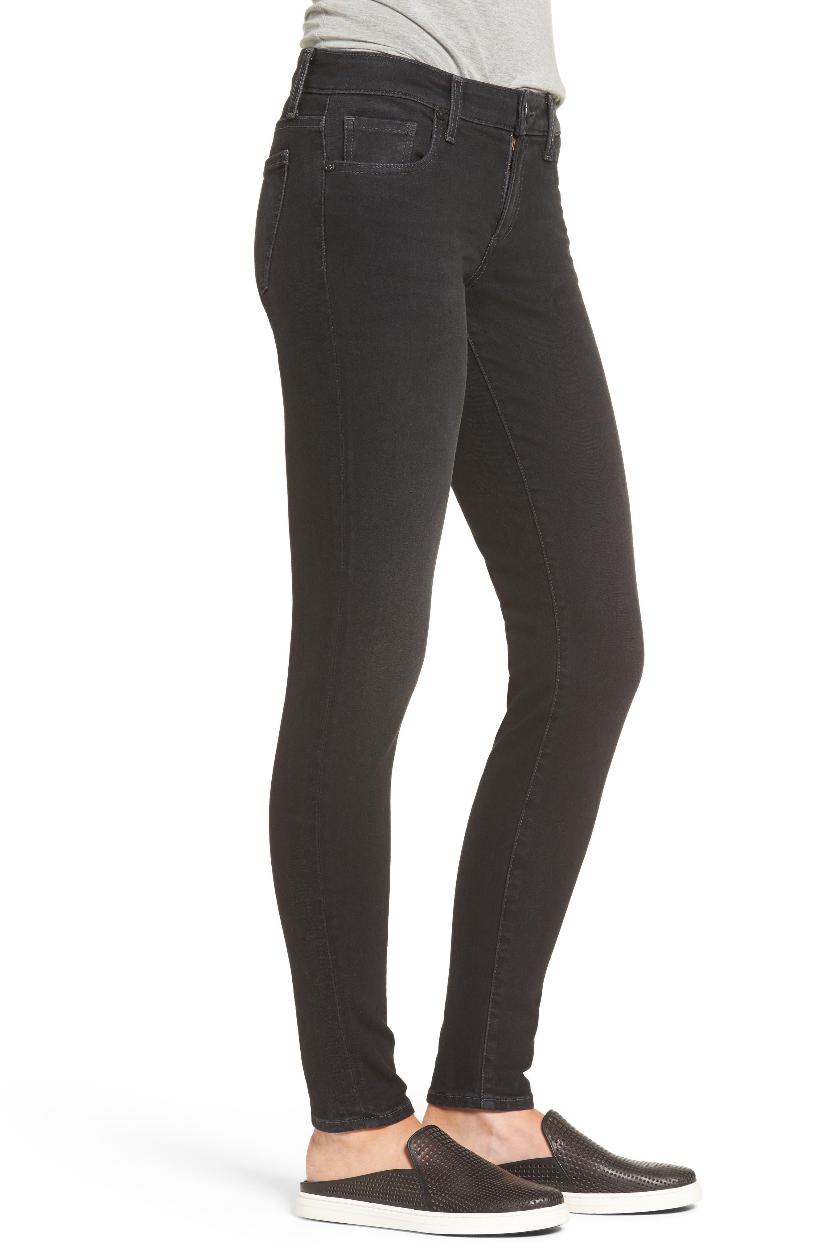Donna Skinny Jeans,                             Alternate thumbnail 3, color,                             018