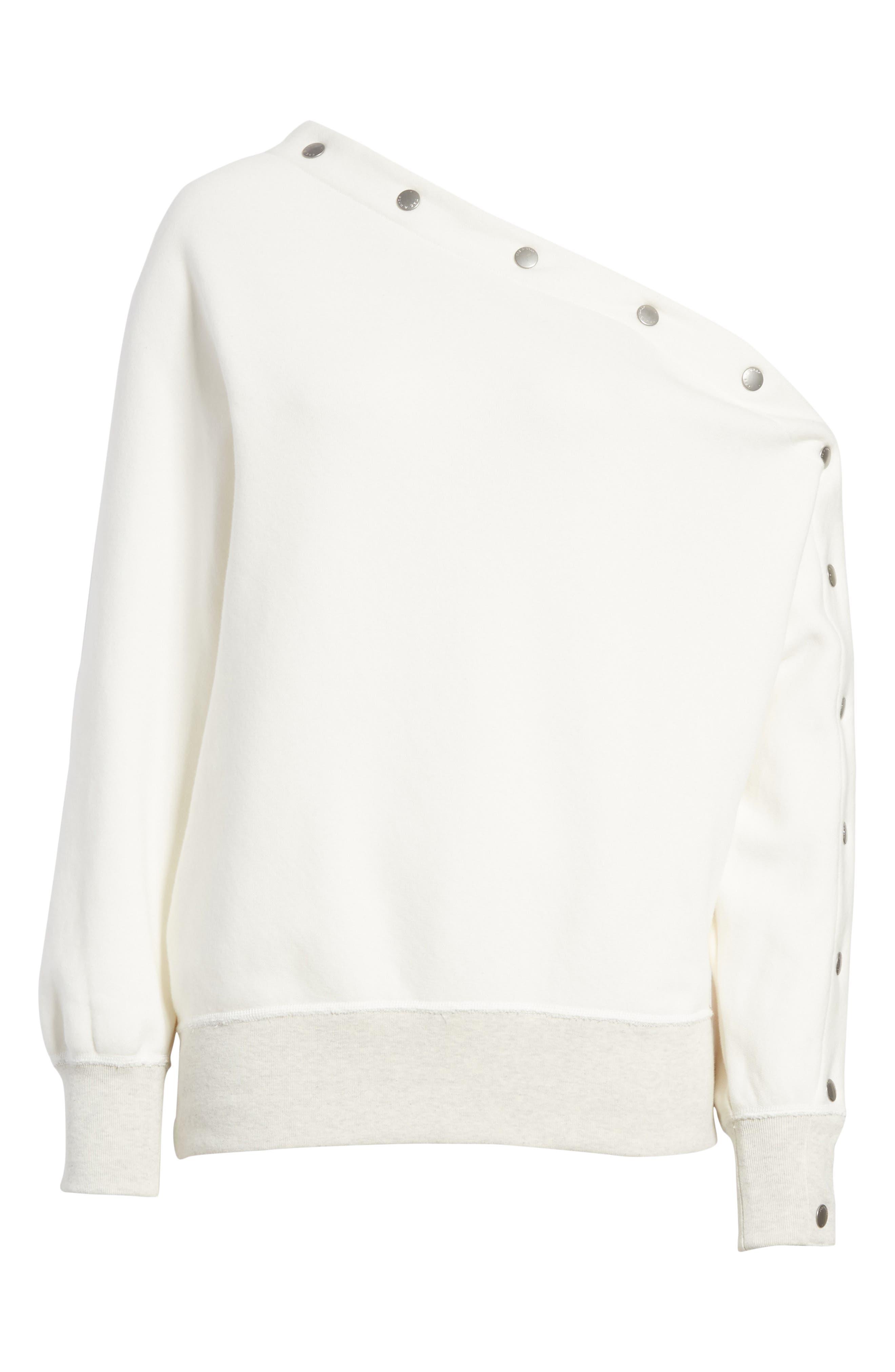 Kate Side Snap Cold Shoulder Sweatshirt,                             Alternate thumbnail 12, color,