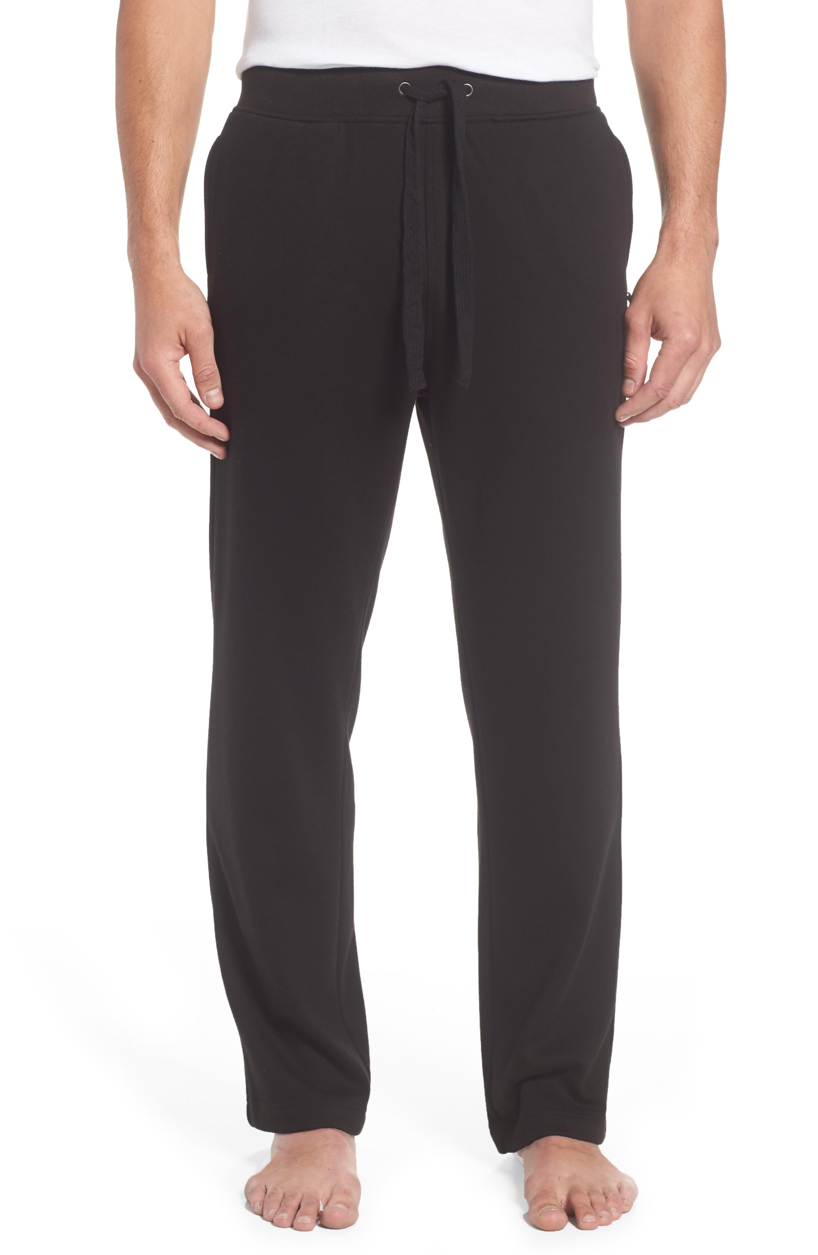 Wyatt Lounge Pants,                         Main,                         color, BLACK