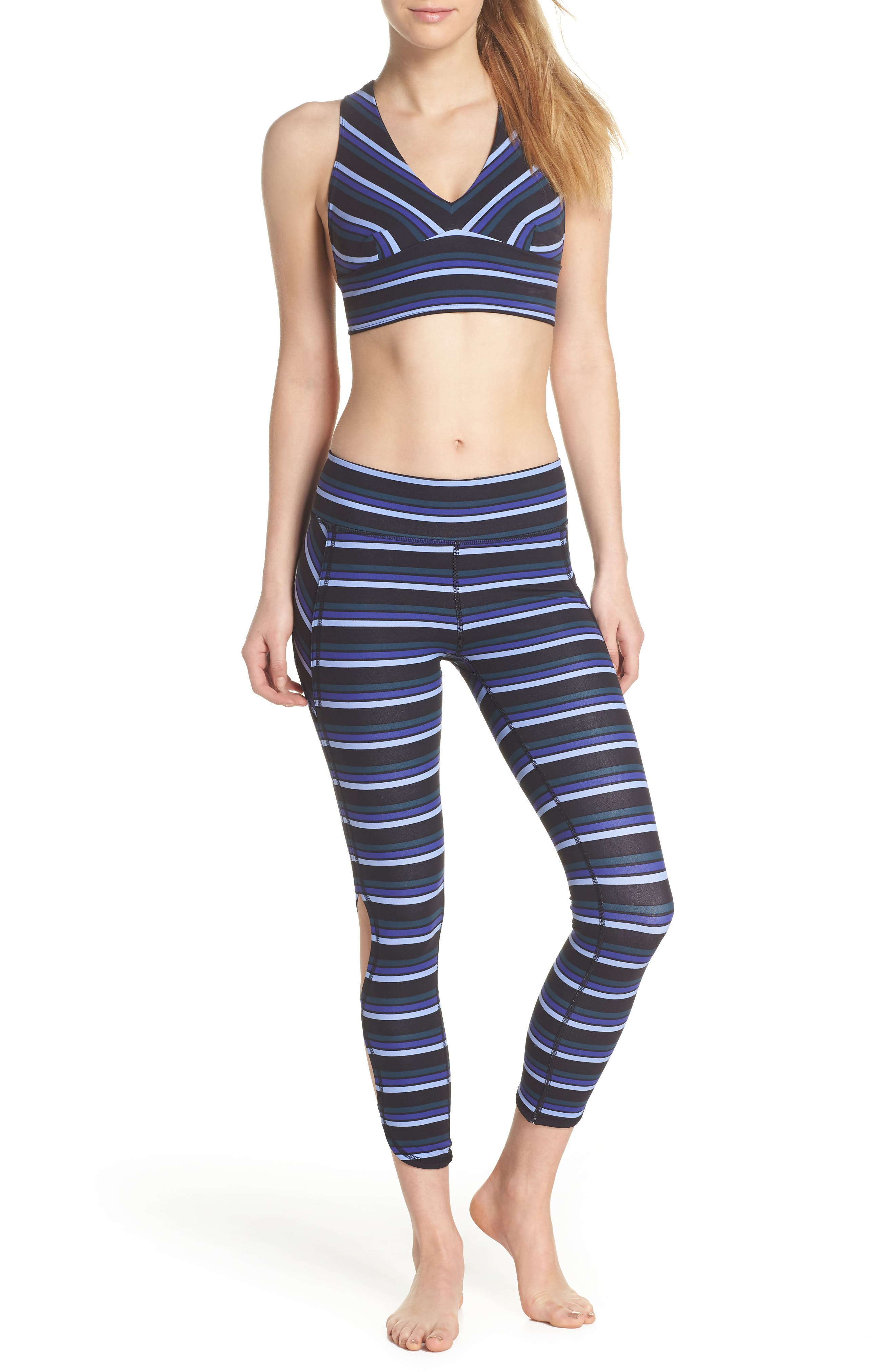 FREE PEOPLE MOVEMENT,                             Stripe Infinity Leggings,                             Alternate thumbnail 8, color,                             001