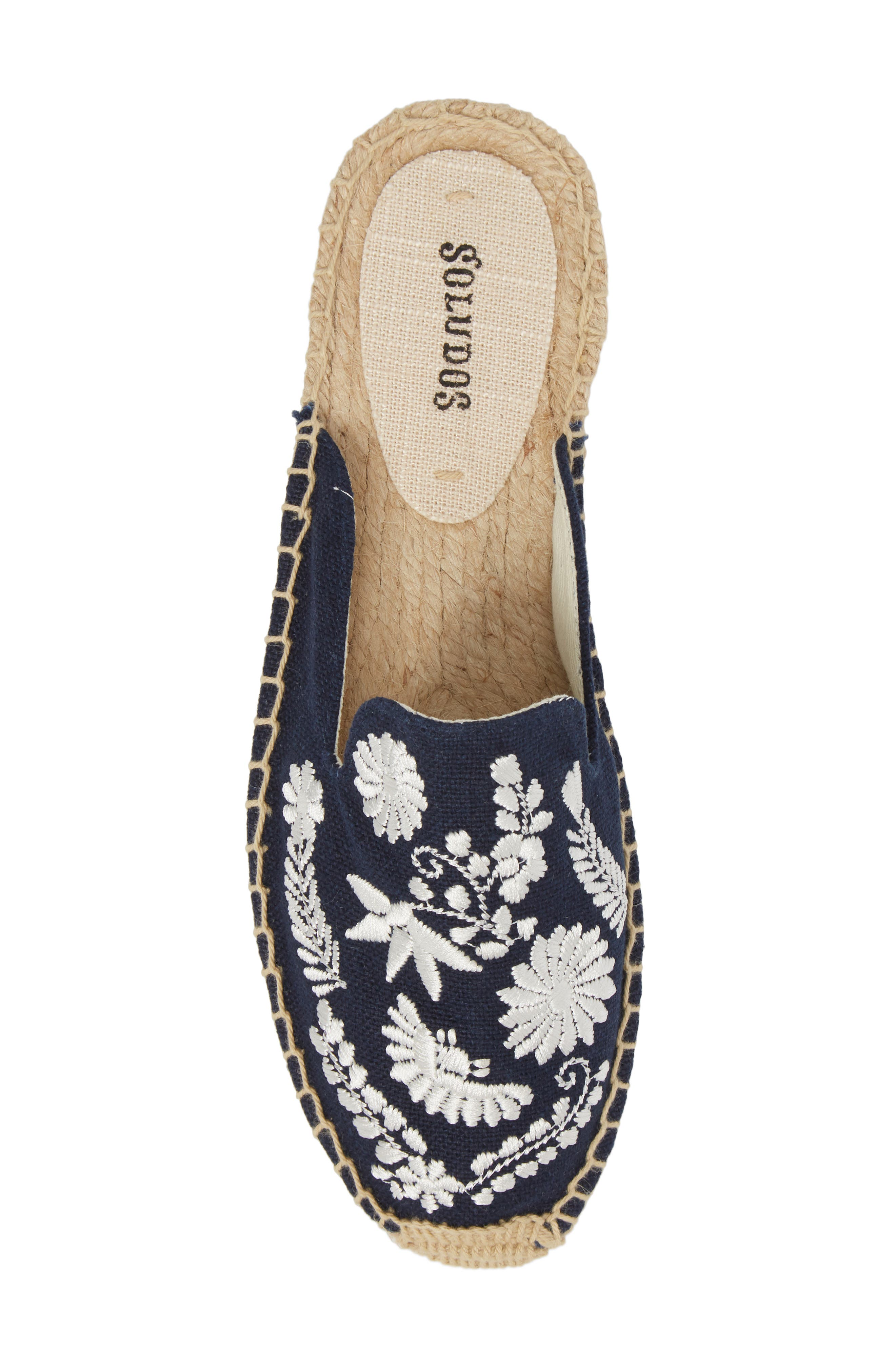 Ibiza Espadrille Mule,                             Alternate thumbnail 5, color,                             MIDNIGHT BLUE CANVAS