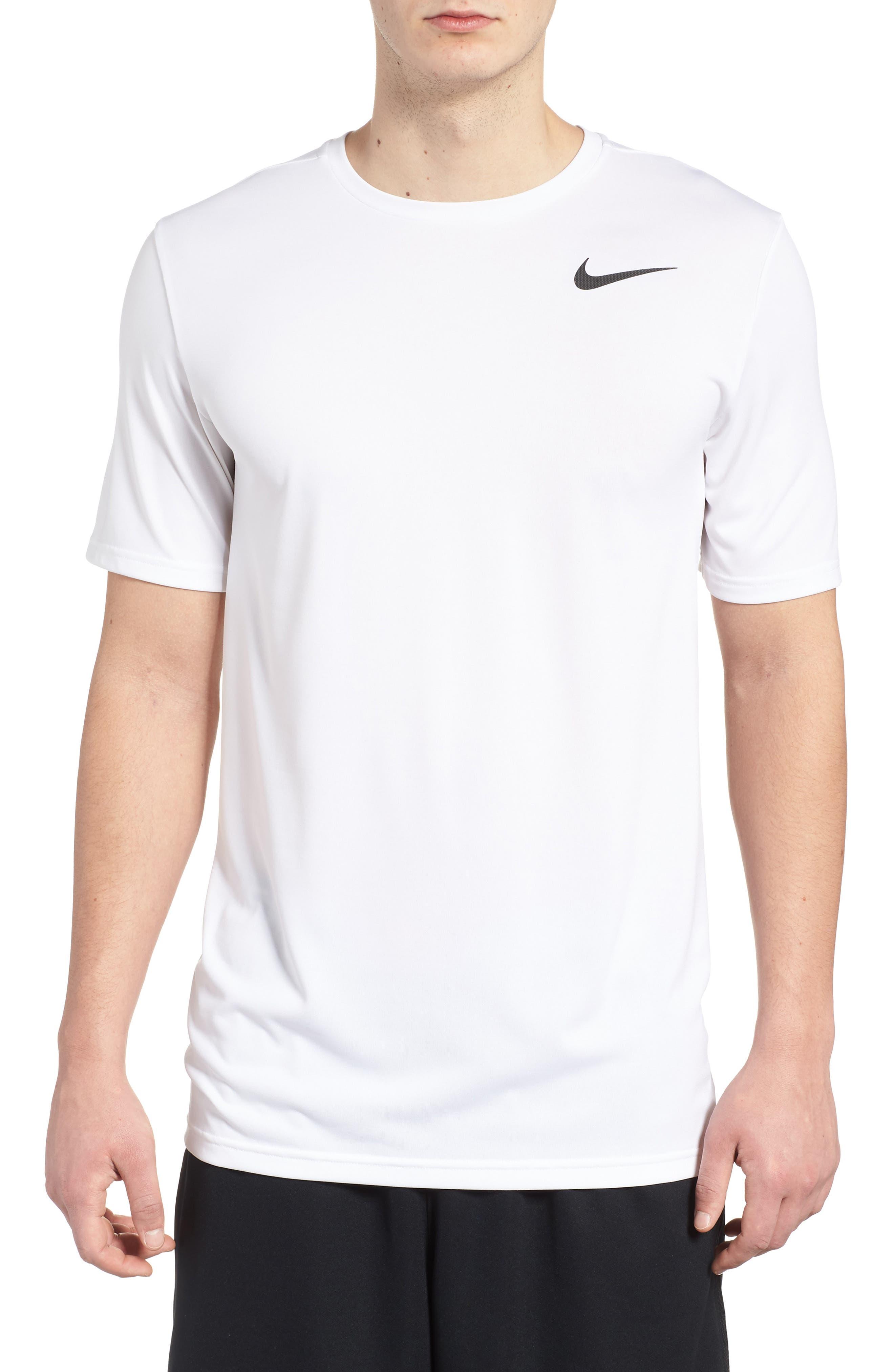 Hyper Dry Training T-Shirt,                             Main thumbnail 1, color,                             WHITE/ WHITE/ BLACK