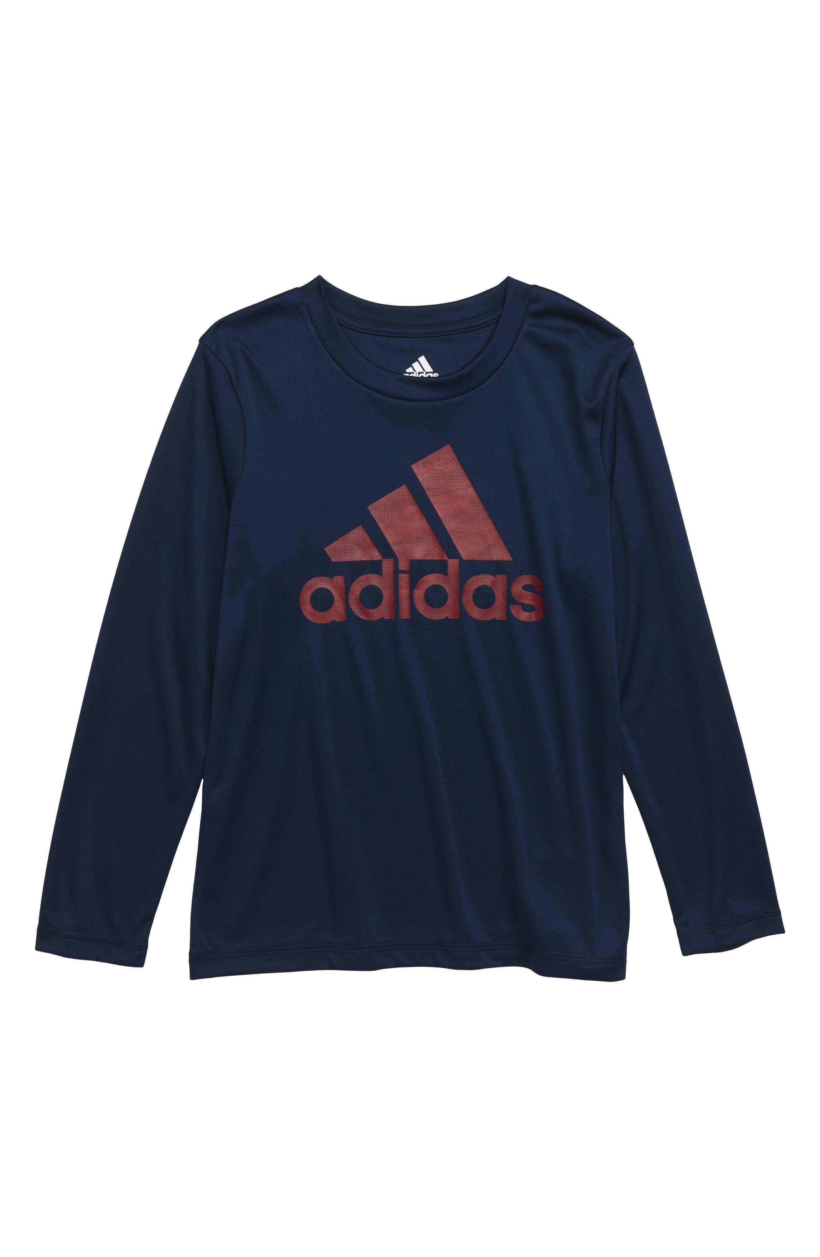 Dot Camo Logo Climalite<sup>®</sup> T-Shirt,                         Main,                         color, NAVY