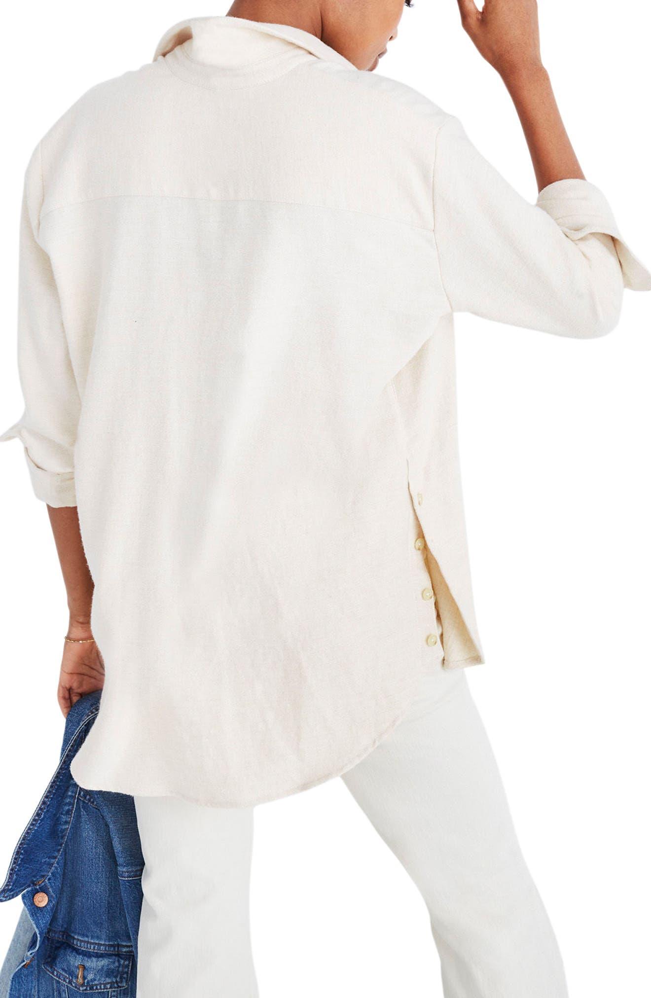 Ex-Boyfriend Side Button Flannel Shirt,                             Alternate thumbnail 2, color,                             250