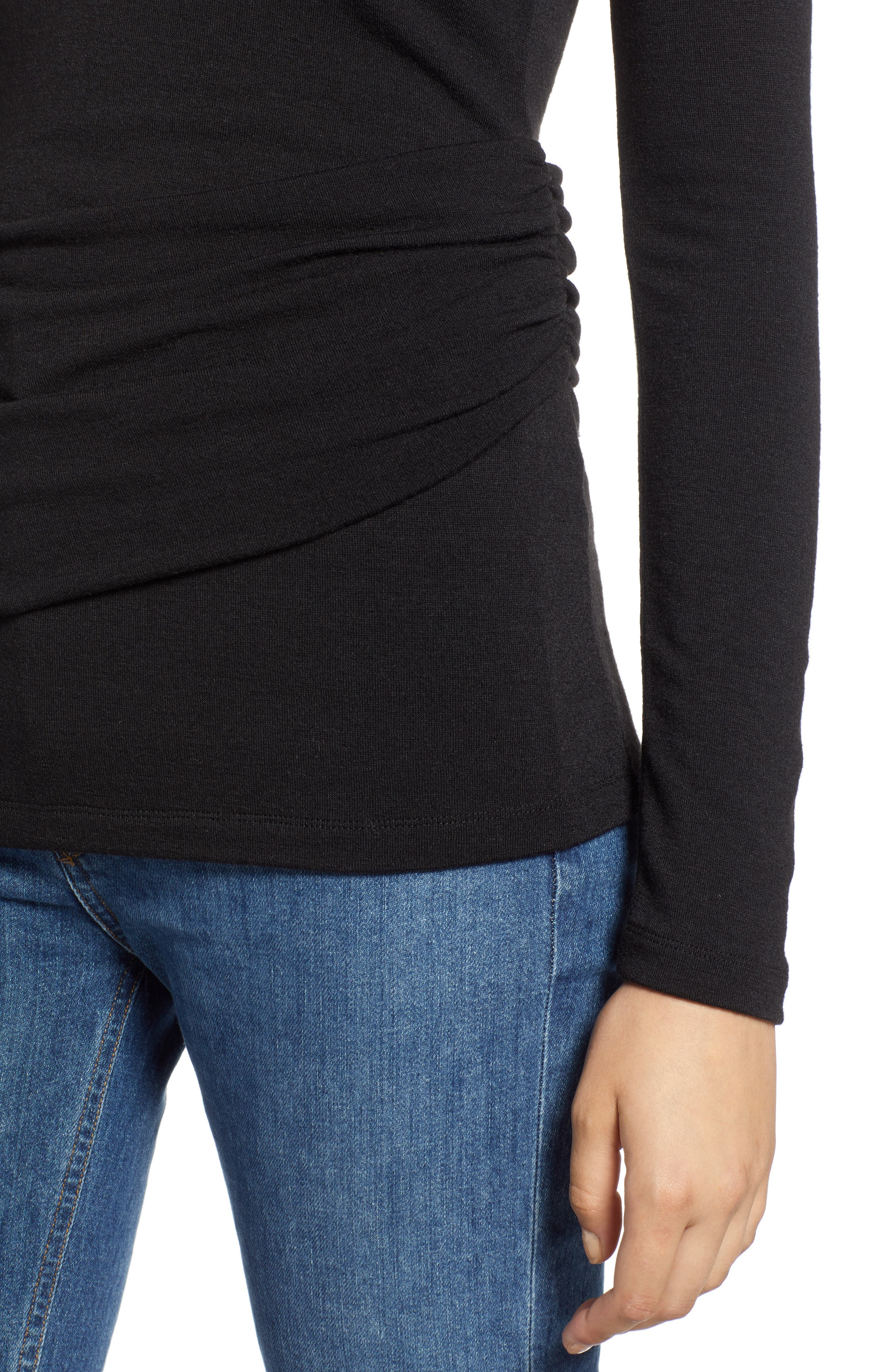 Ruched Top,                             Alternate thumbnail 4, color,                             001