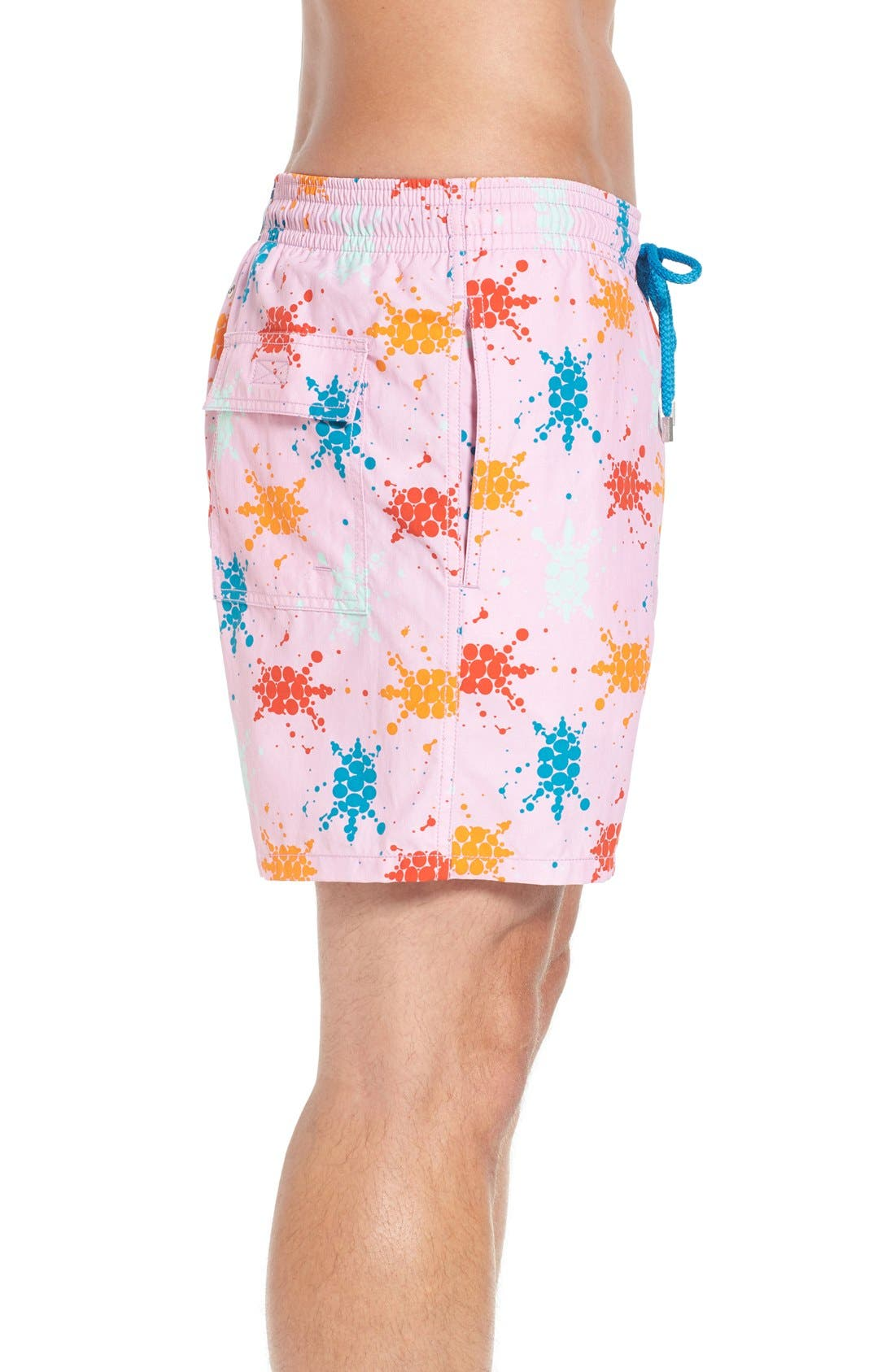 Japan Turtles Print Swim Trunks,                             Alternate thumbnail 3, color,                             659