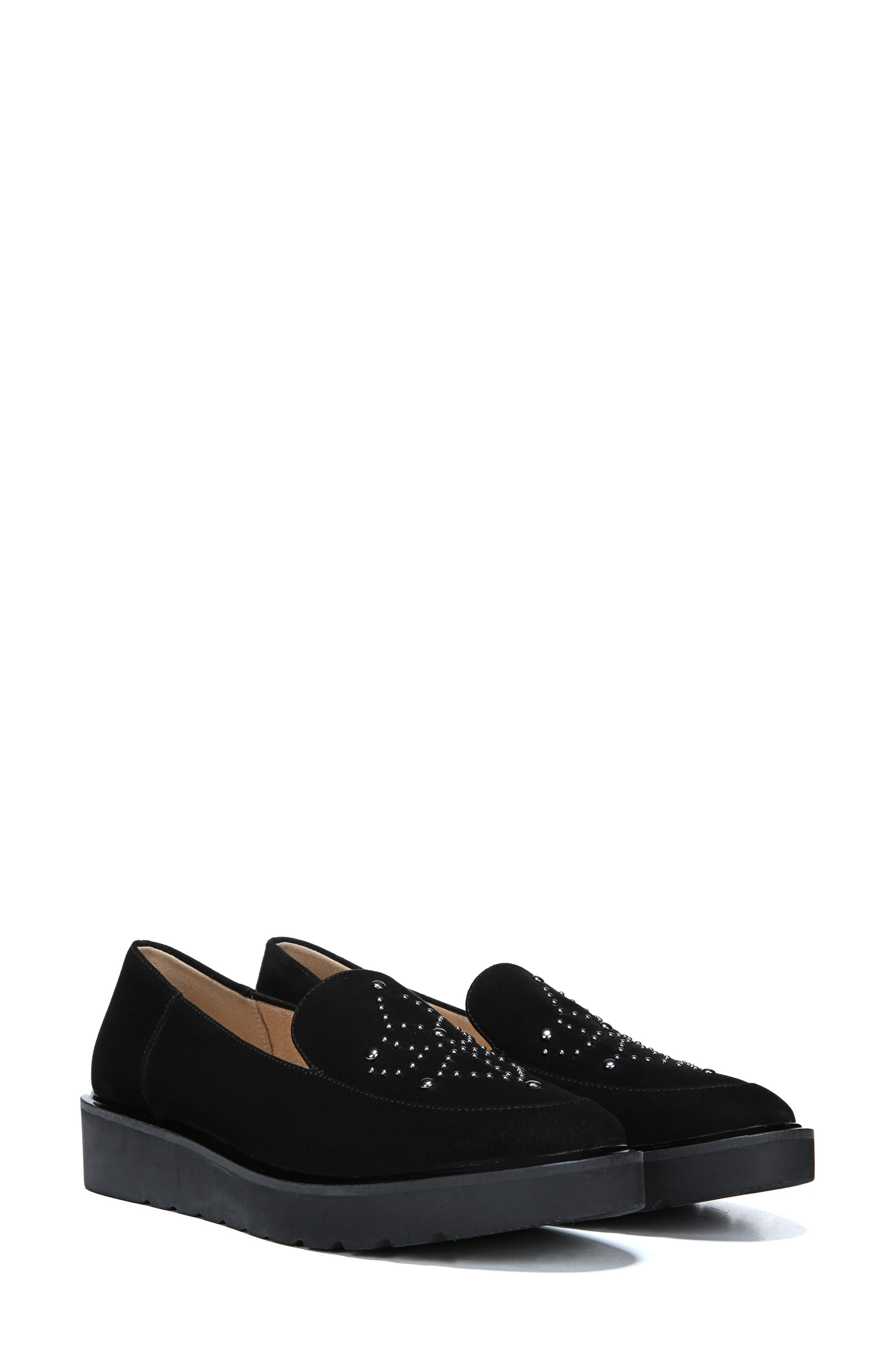 Andie Loafer,                             Alternate thumbnail 5, color,                             BLACK SUEDE