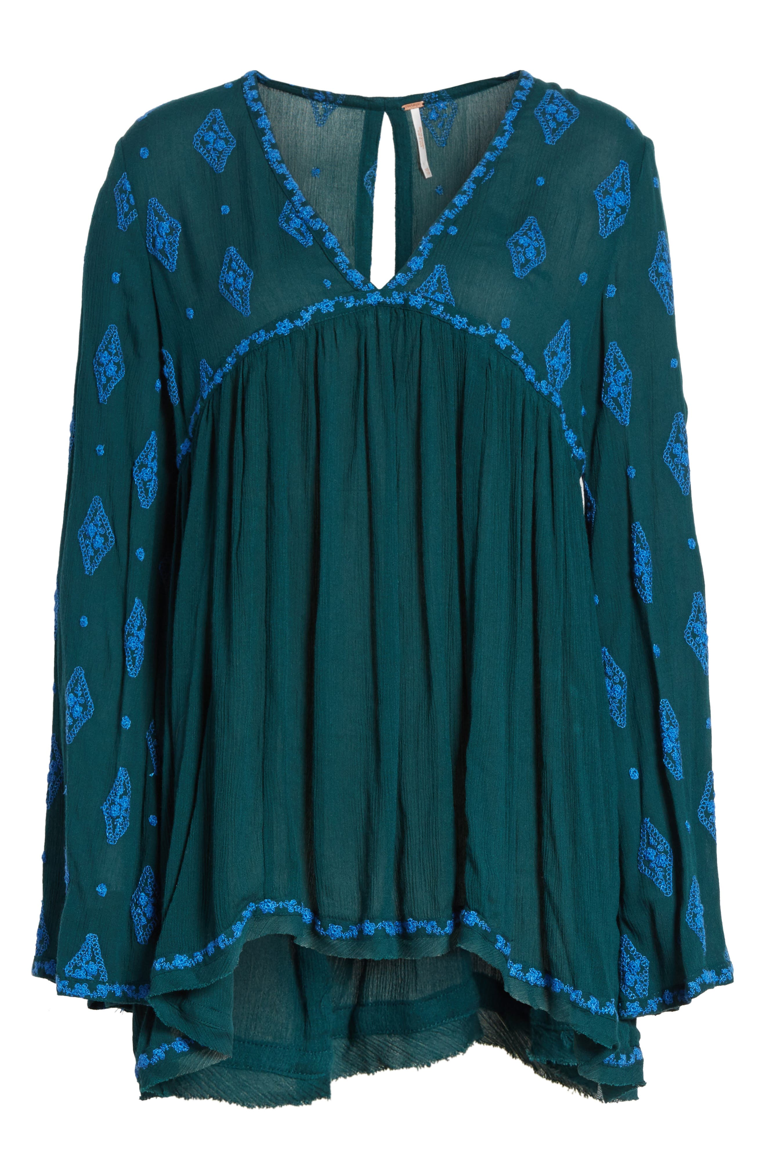 Embroidered Bell Sleeve Top,                             Alternate thumbnail 30, color,