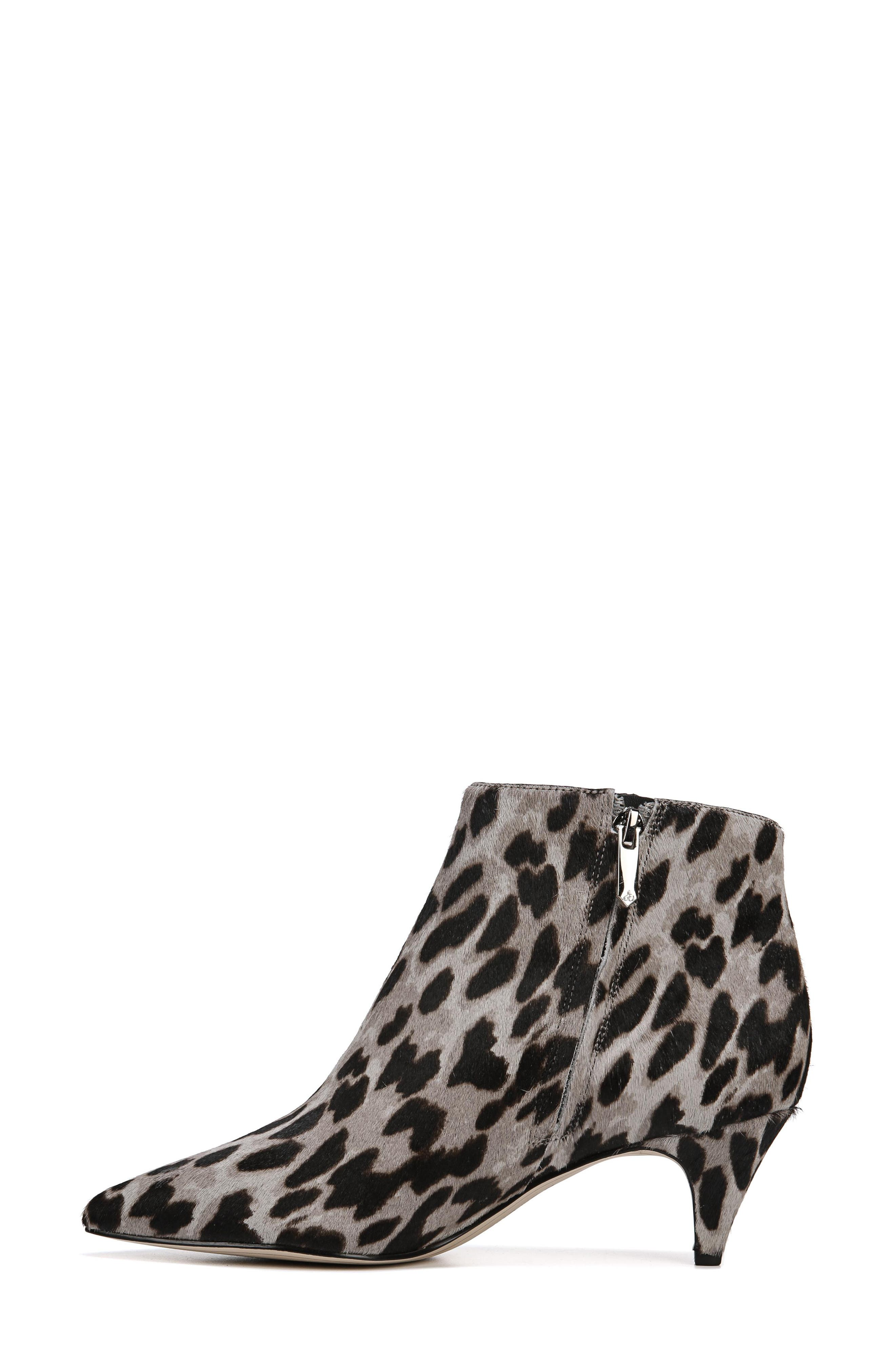 Kinzey Genuine Calf Hair Pointy Toe Bootie,                             Alternate thumbnail 9, color,                             GREY LEOPARD BRAHMA HAIR