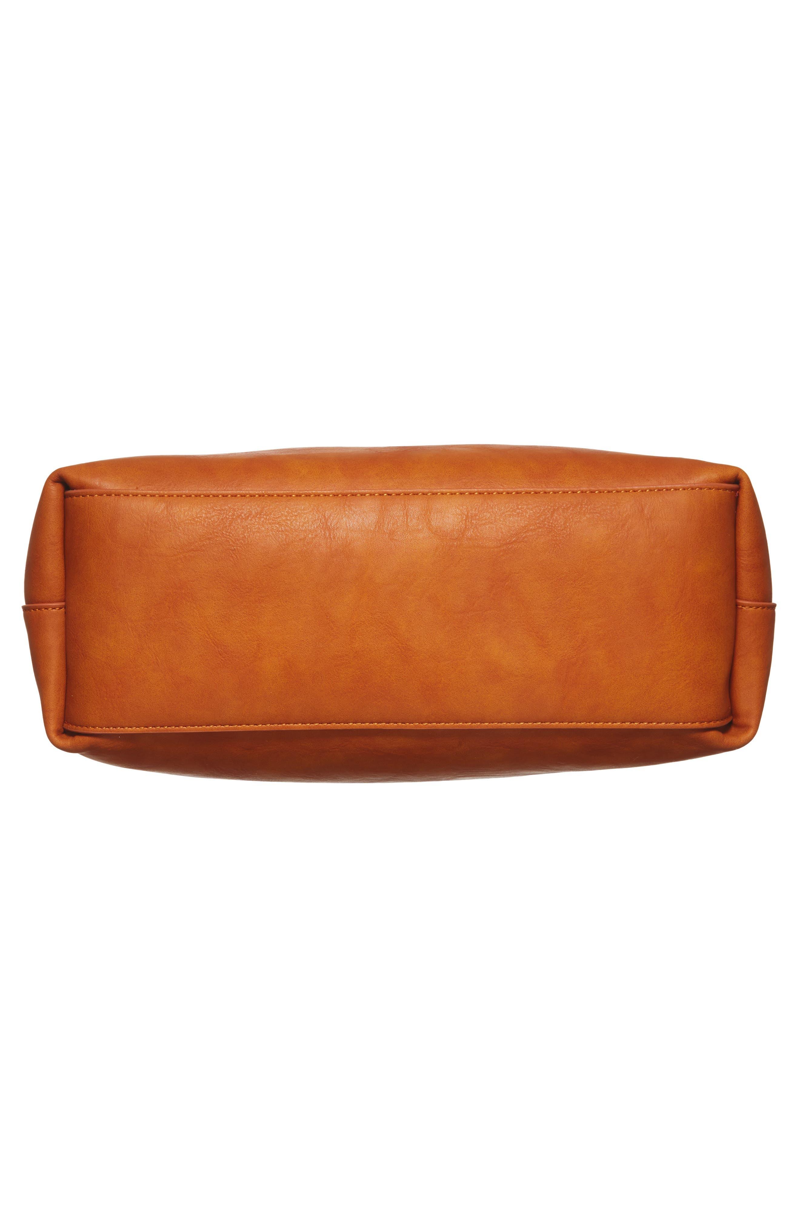 Oversize Melyssa Faux Leather Tote,                             Alternate thumbnail 6, color,                             200