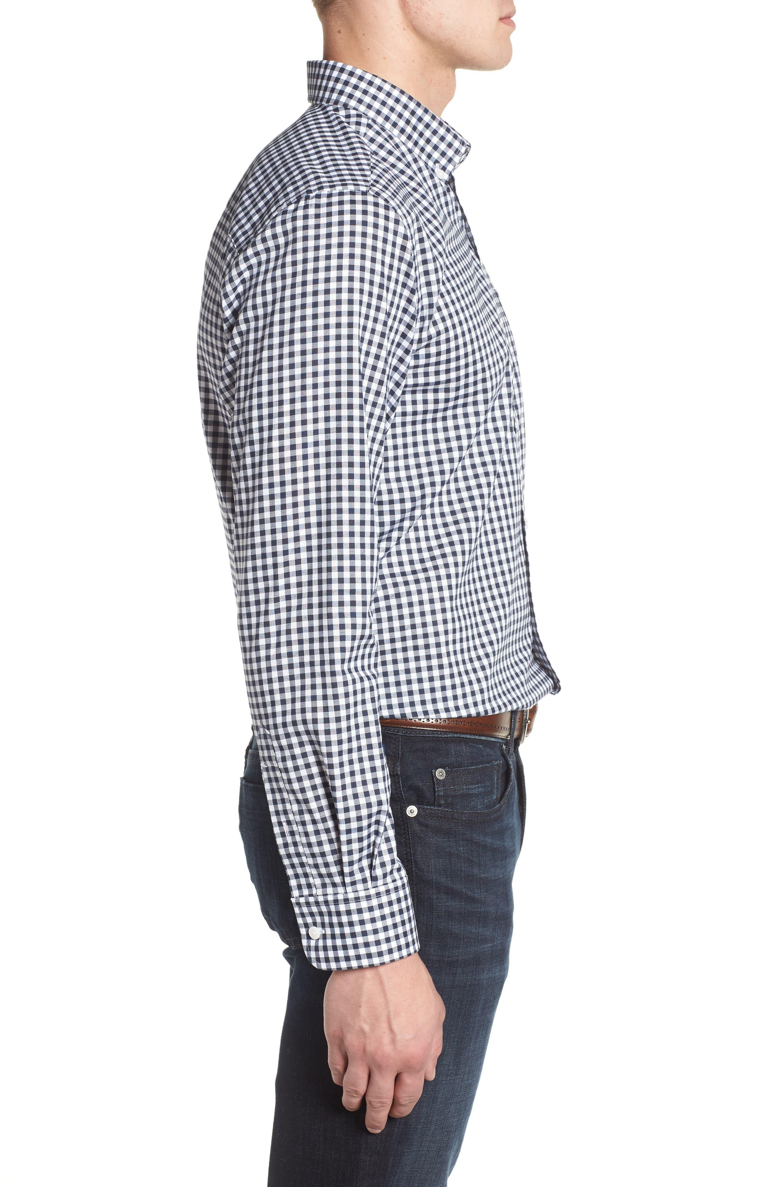 League Houston Texans Regular Fit Shirt,                             Alternate thumbnail 3, color,                             LIBERTY NAVY