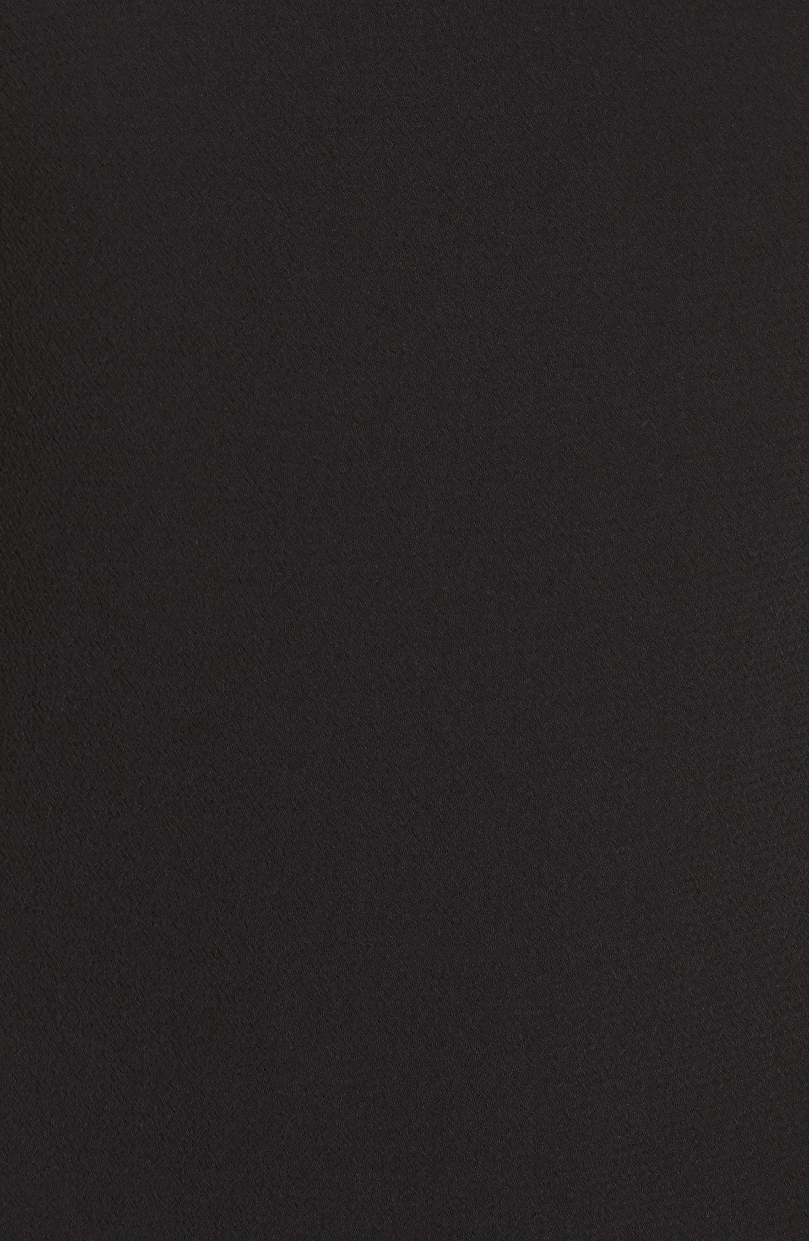 Ruffle Sleeve Shift Dress,                             Alternate thumbnail 5, color,                             001