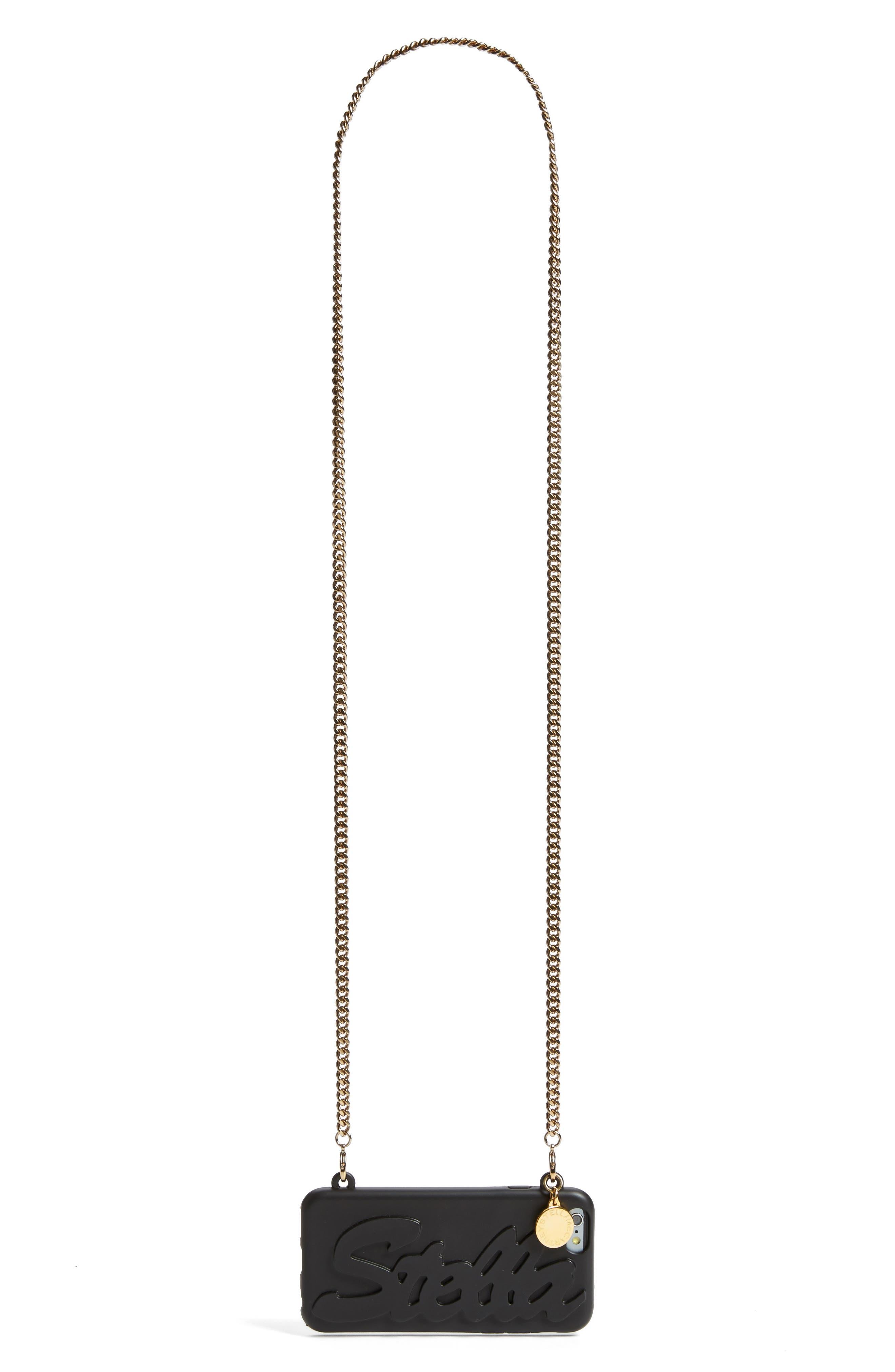 'Stella' iPhone 6 & 6s Crossbody Chain Case,                             Alternate thumbnail 9, color,                             001