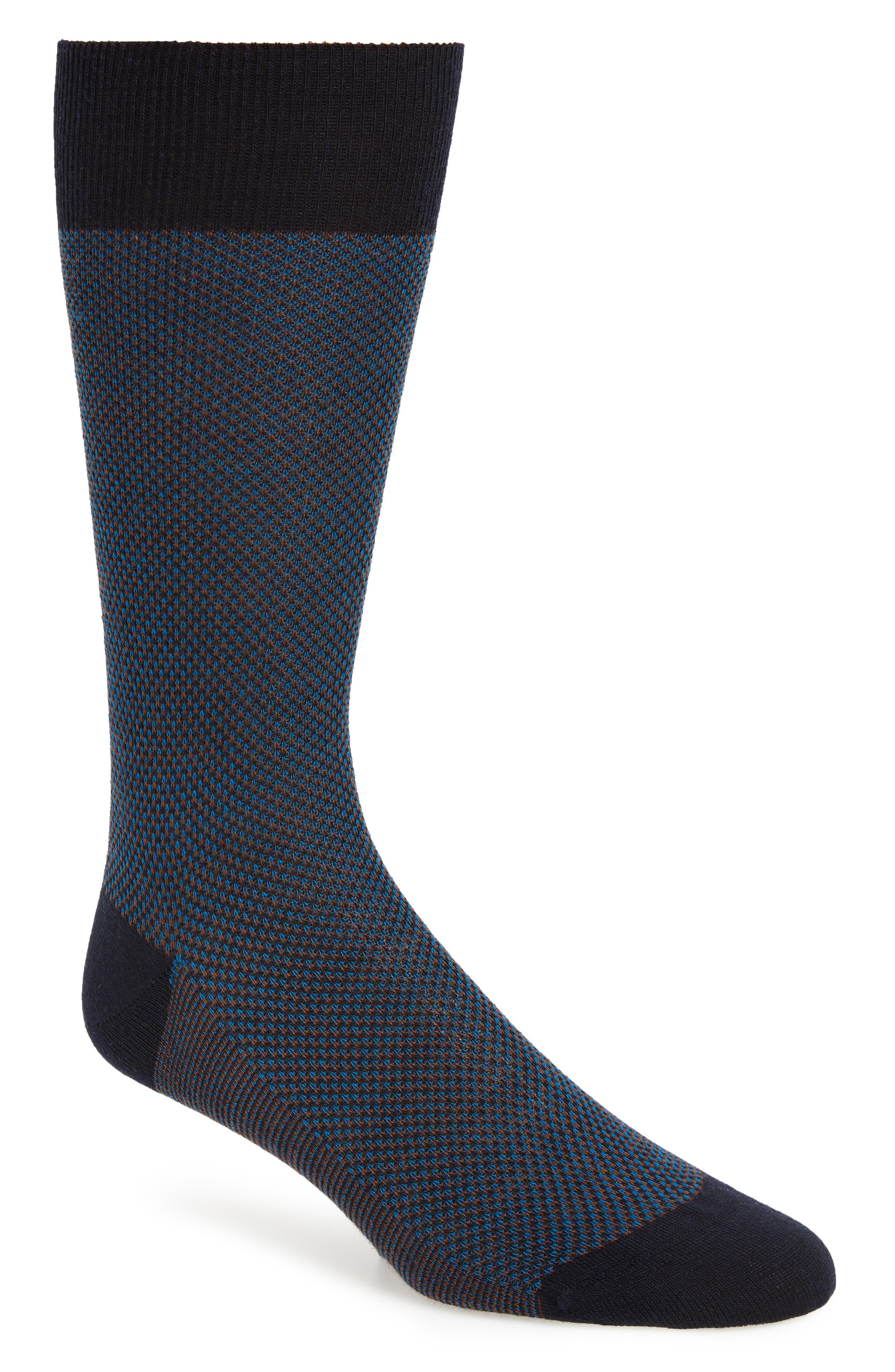 PANTHERELLA 'Vintage Collection - Blenheim' Merino Wool Blend Socks in New Navy