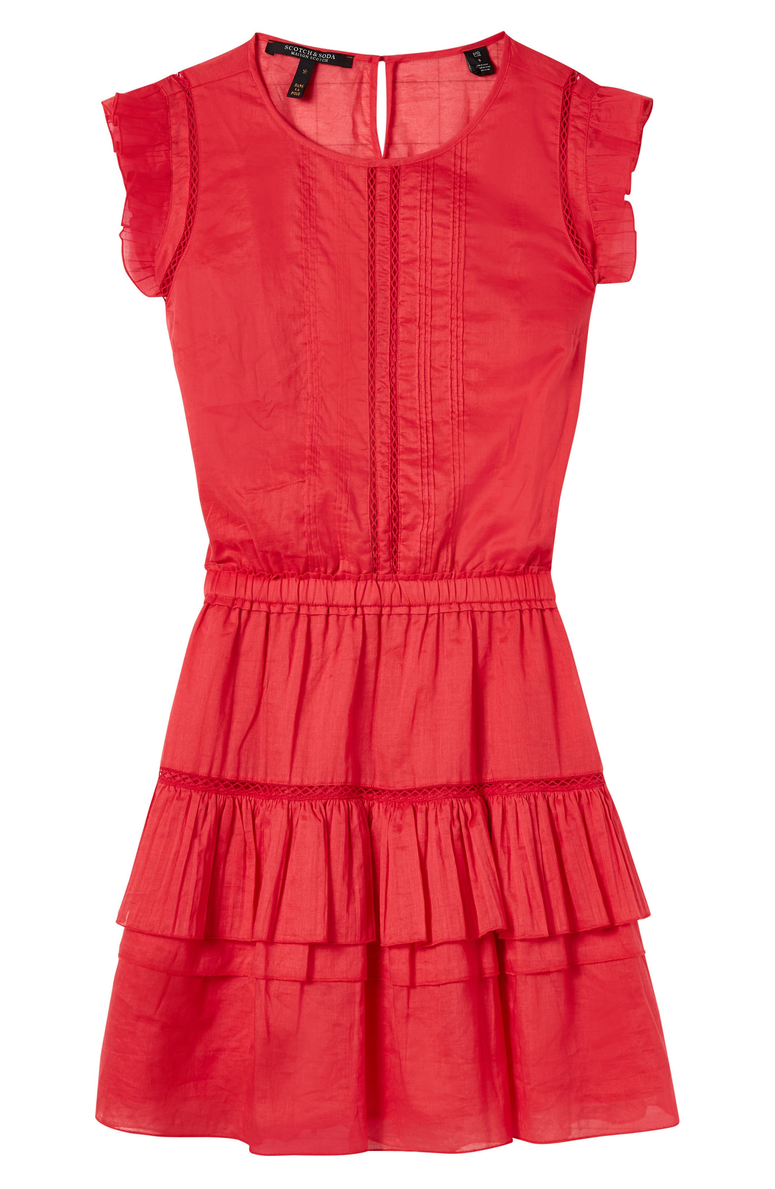 SCOTCH & SODA,                             Tiered Sleeveless Dress,                             Alternate thumbnail 5, color,                             600