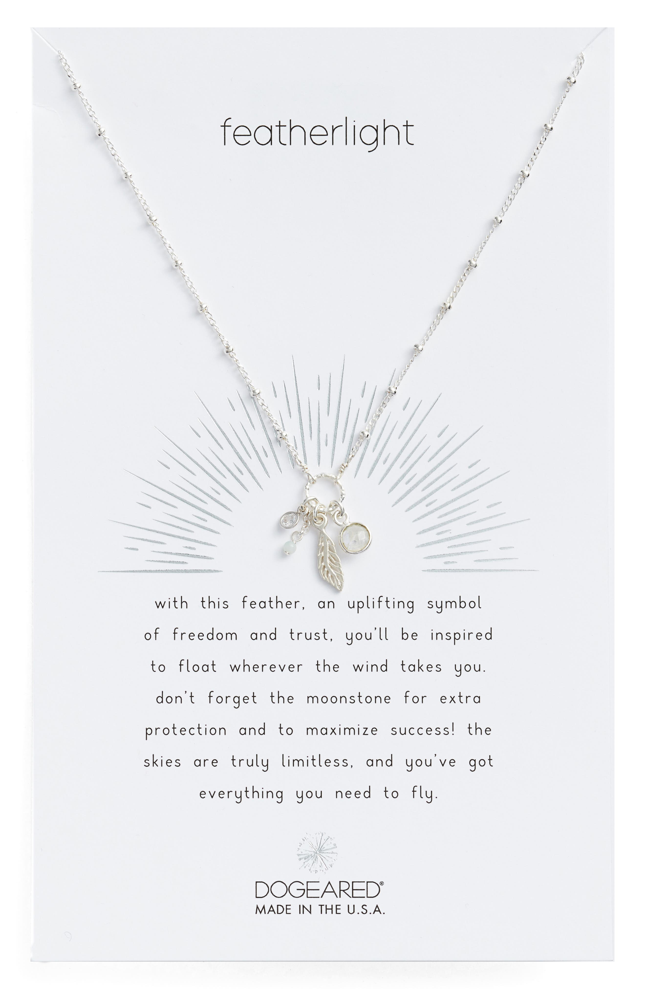 Featherlight Pendant Necklace,                             Main thumbnail 1, color,                             040
