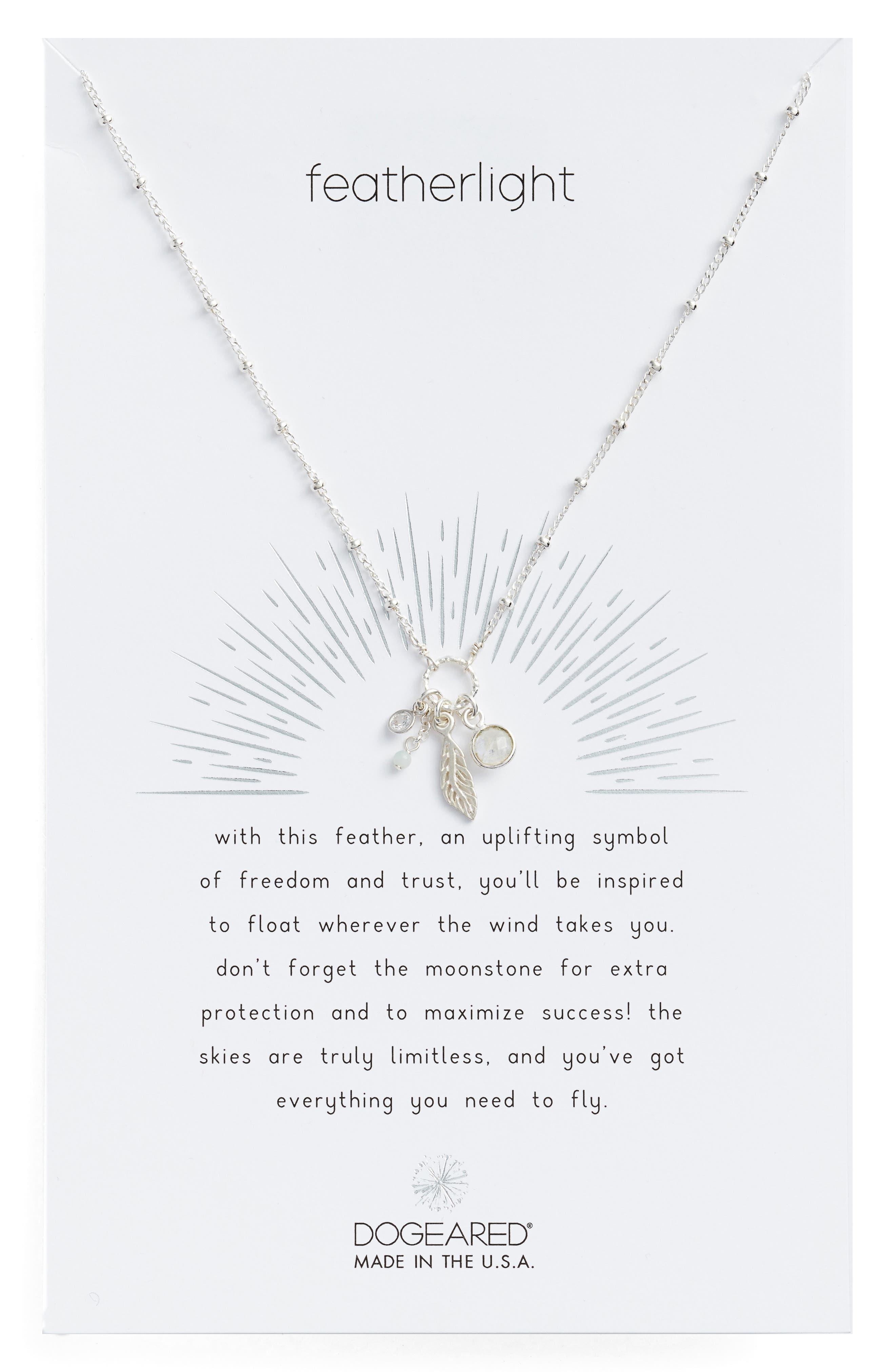 Featherlight Pendant Necklace,                         Main,                         color, 040
