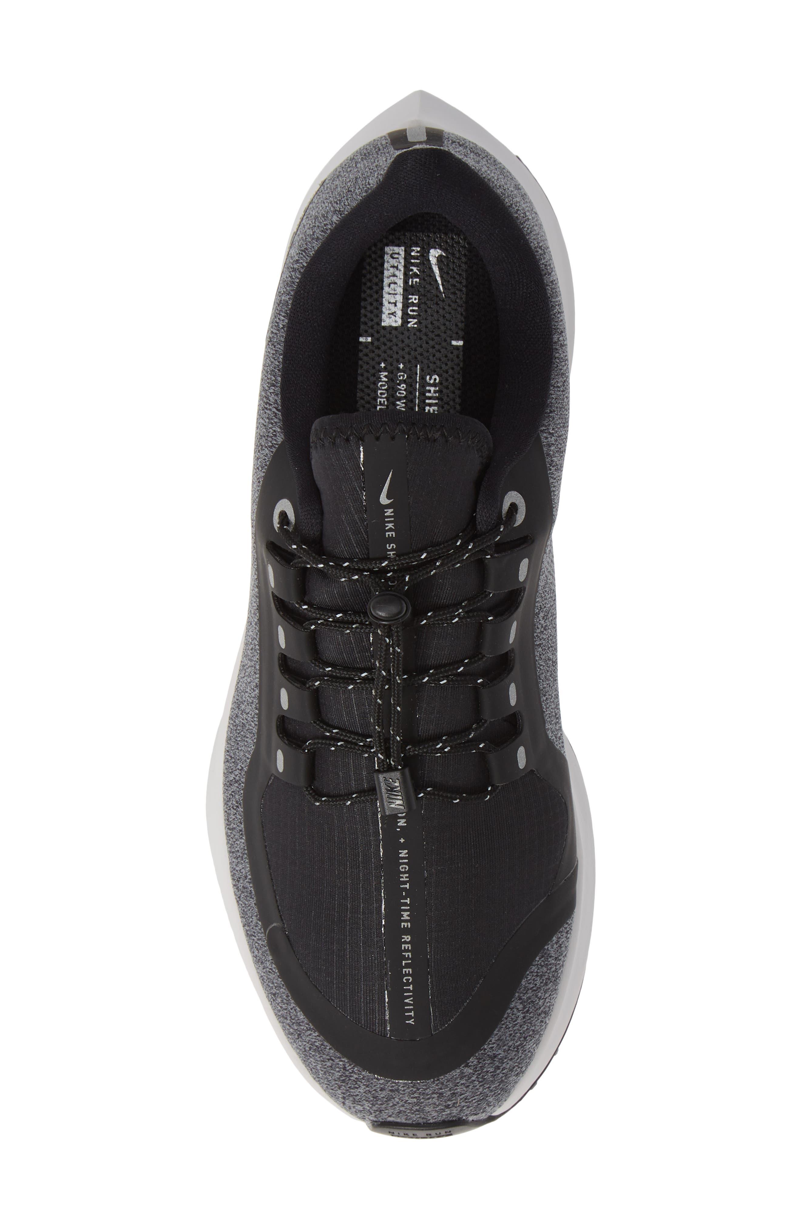 Air Zoom Pegasus 35 Shield GS Water Repellent Running Shoe,                             Alternate thumbnail 5, color,                             BLACK/ WHITE-COOL GREY-GREY