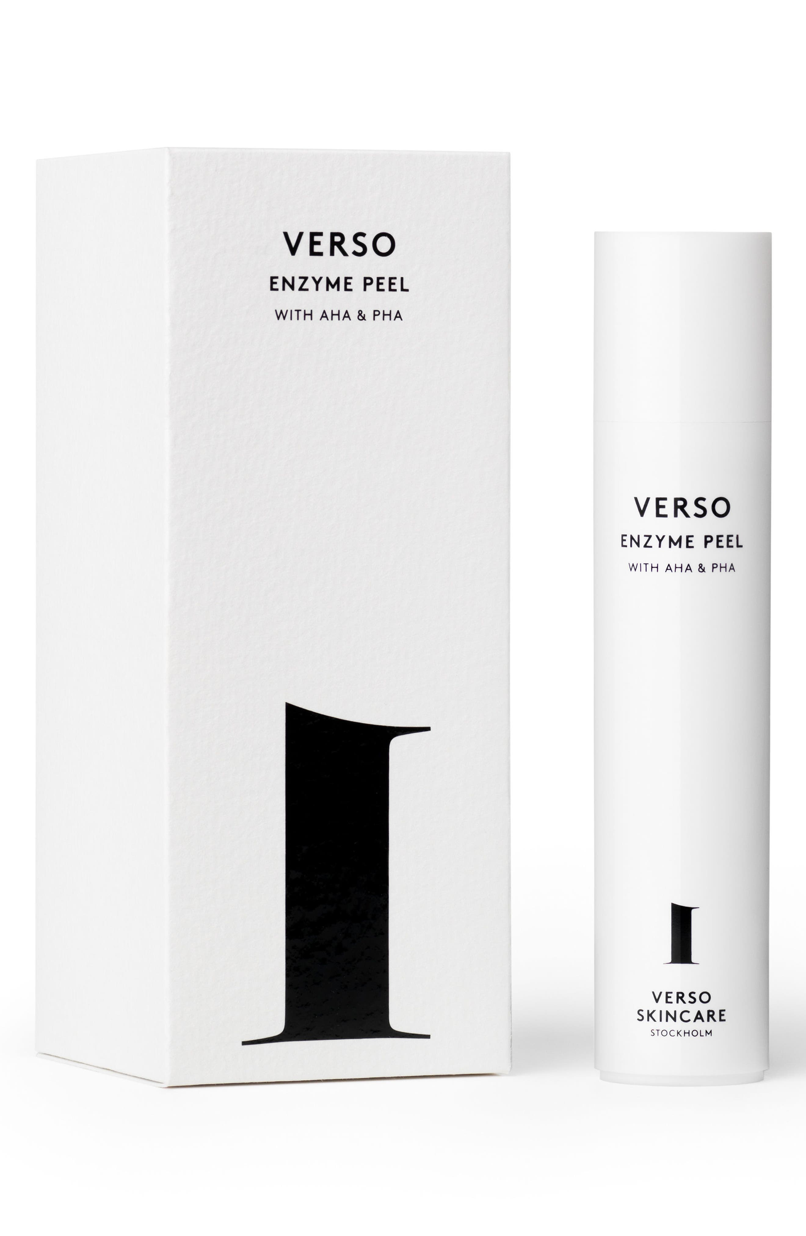 VERSO,                             SPACE.NK.apothecary Verso Skincare Enzyme Peel,                             Main thumbnail 1, color,                             000