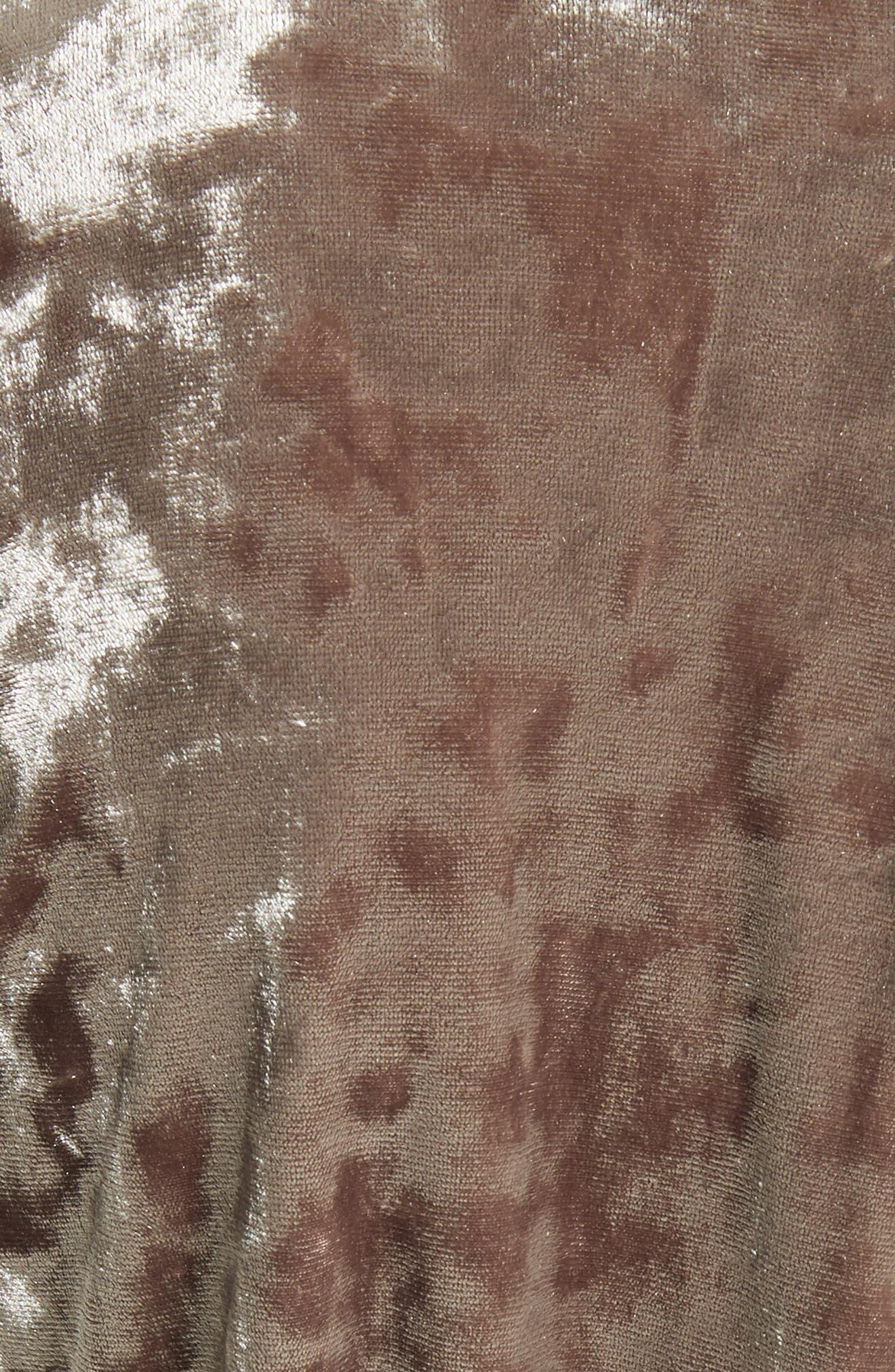 Gisele Crushed Velvet Tie Neck Blouse,                             Alternate thumbnail 5, color,                             300