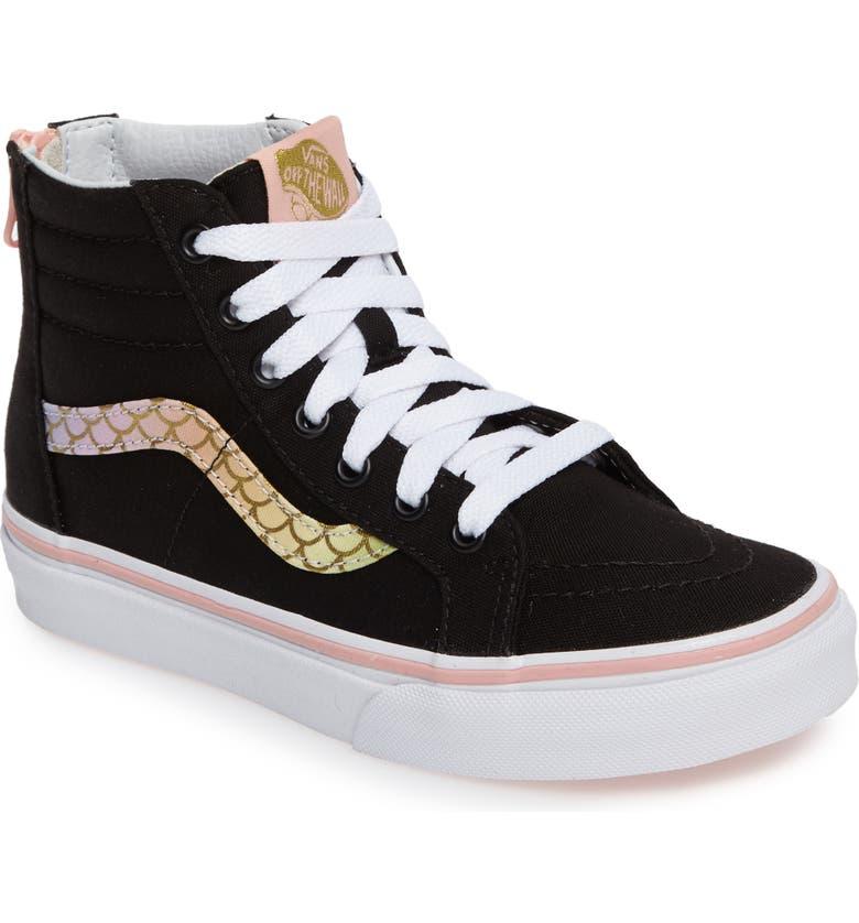 af70aef6e64eae Vans Mermaid Rainbow Sk8-Hi Zip Sneaker (Toddler