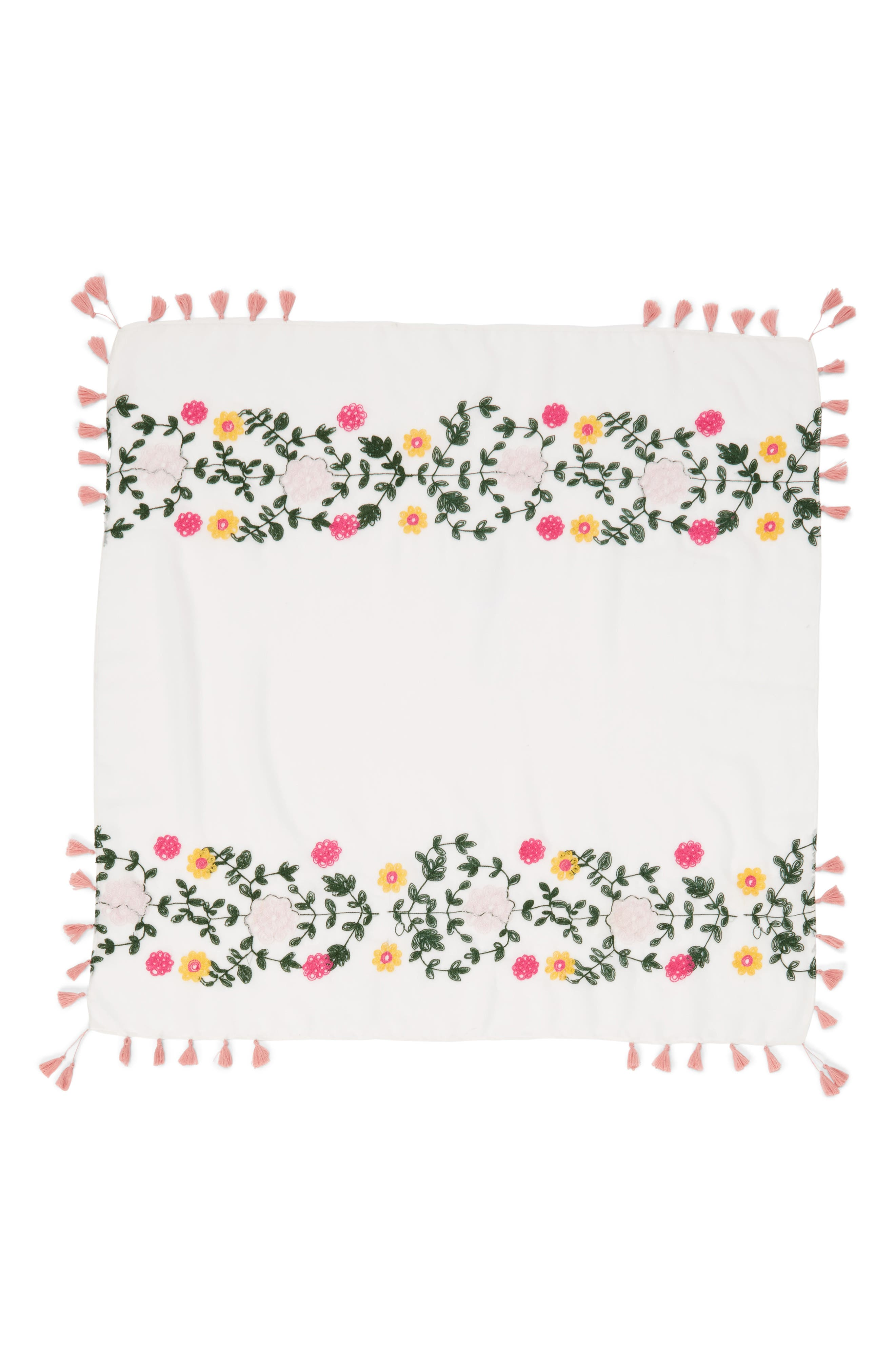 Embroidered Square Scarf,                             Alternate thumbnail 9, color,