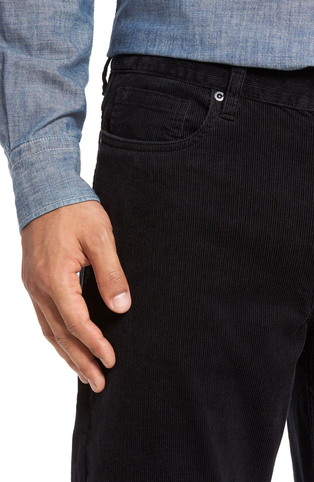 Greenwood Stretch Corduroy Pants,                             Alternate thumbnail 5, color,                             001