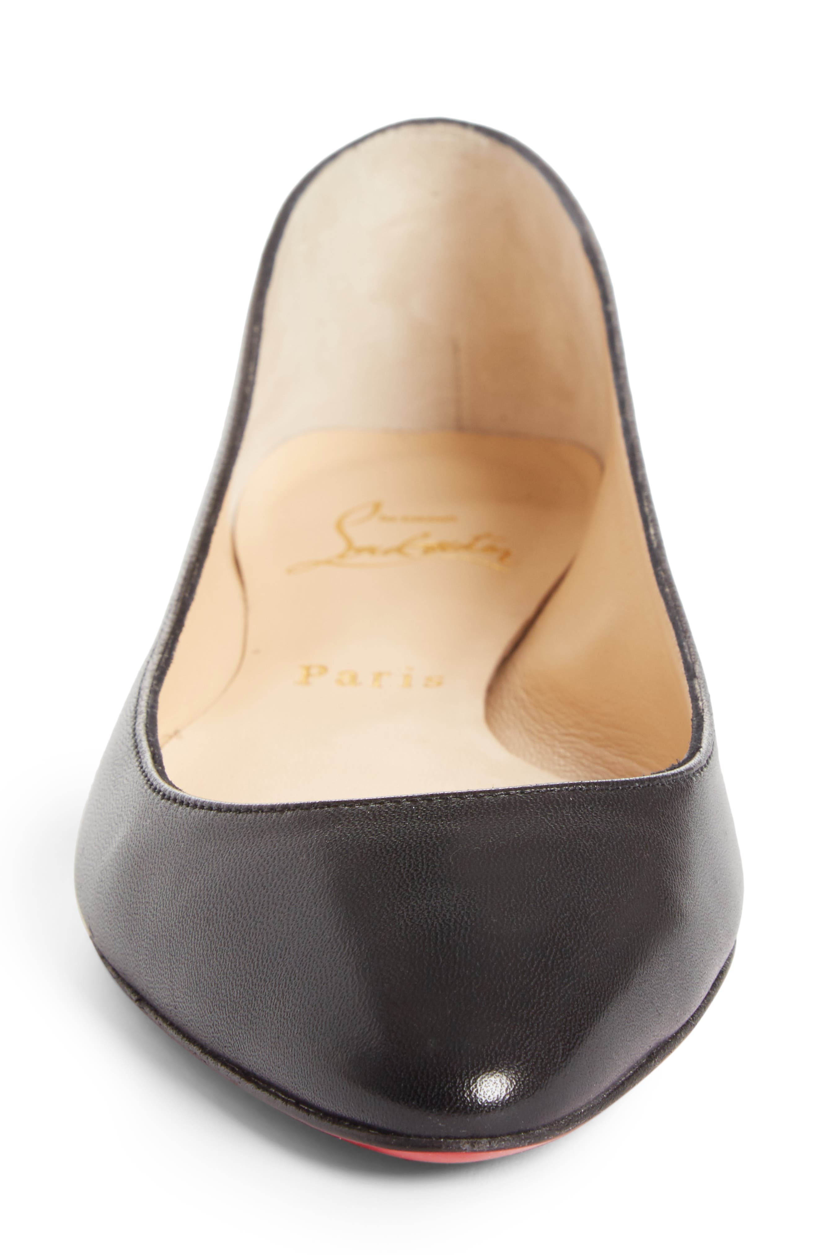 Eloise Flat,                             Alternate thumbnail 4, color,                             BLACK LEATHER