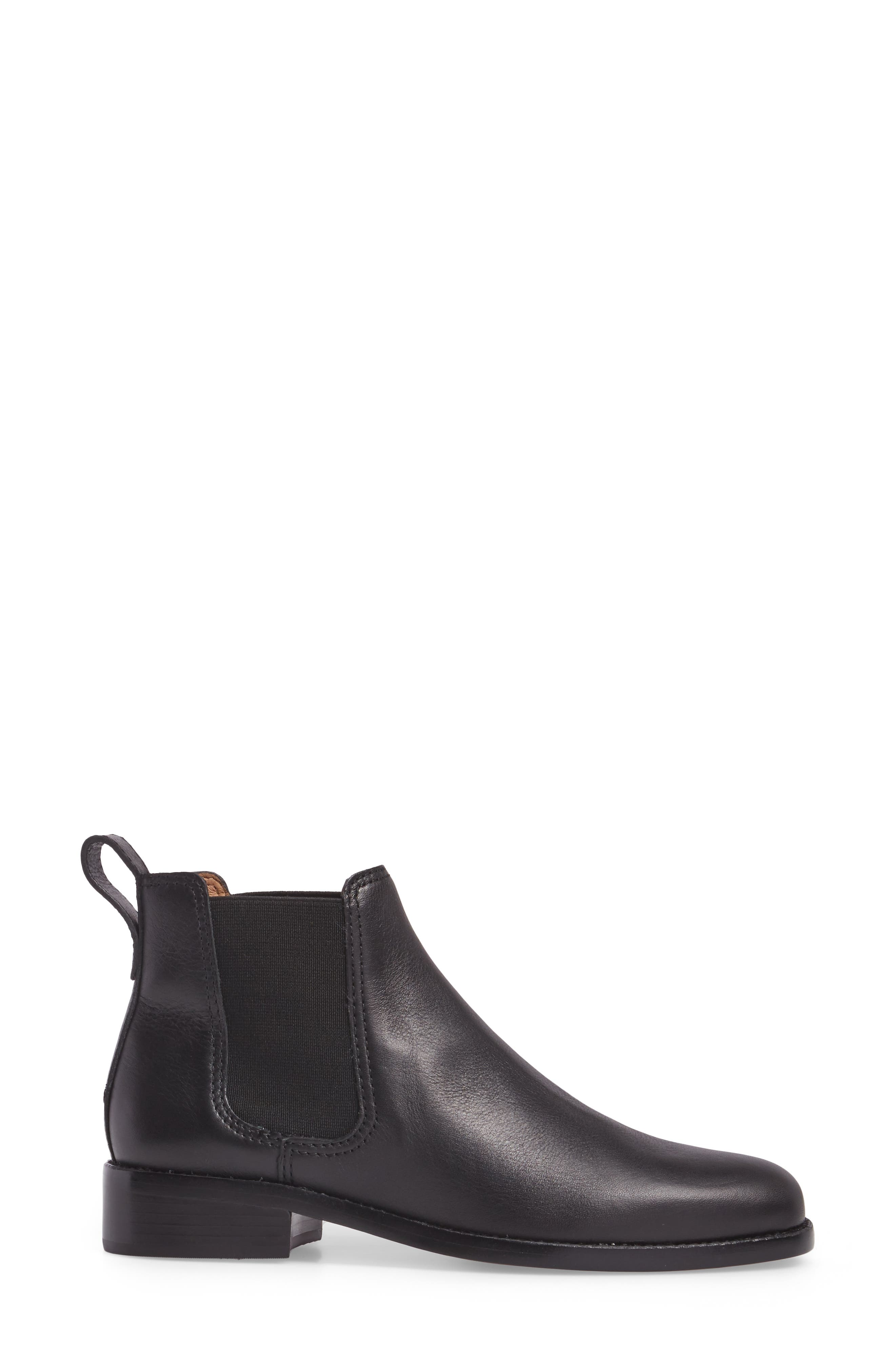 The Ainsley Chelsea Boot,                             Alternate thumbnail 3, color,                             001