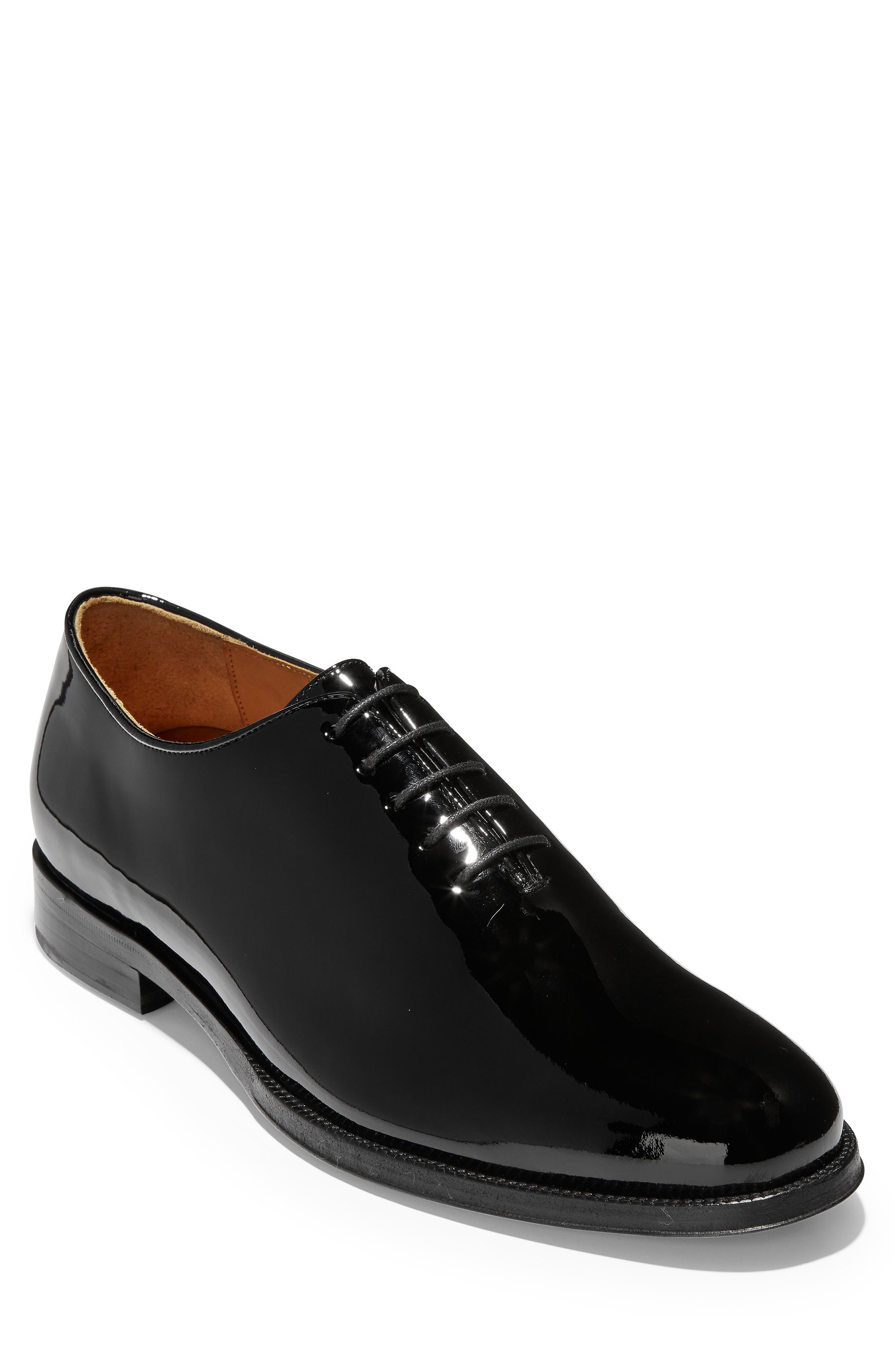 American Classics Grammercy Whole Cut Shoe,                             Main thumbnail 1, color,                             BLACK PATENT LEATHER