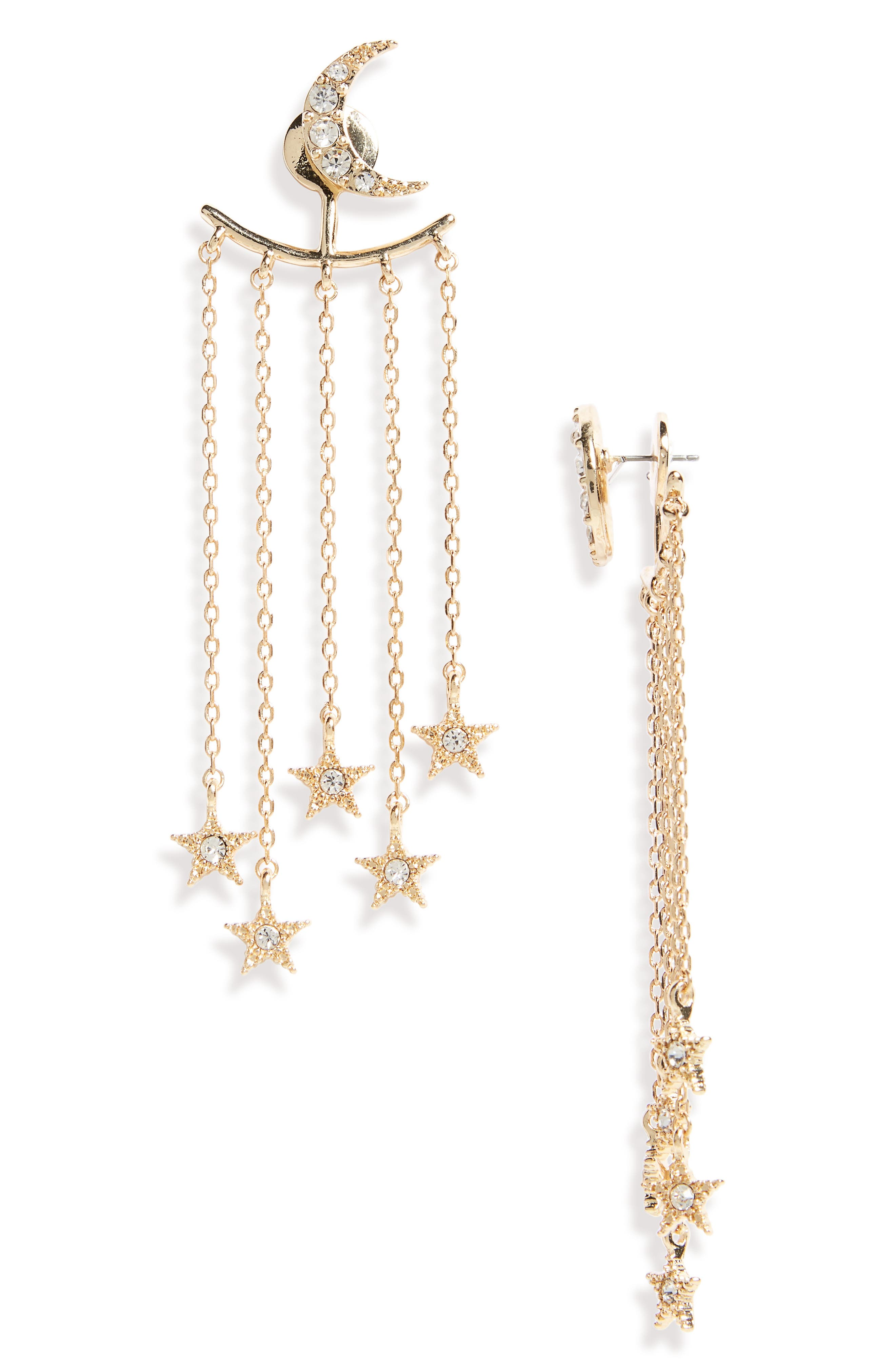 Moon & Stars Ear Jackets,                         Main,                         color,