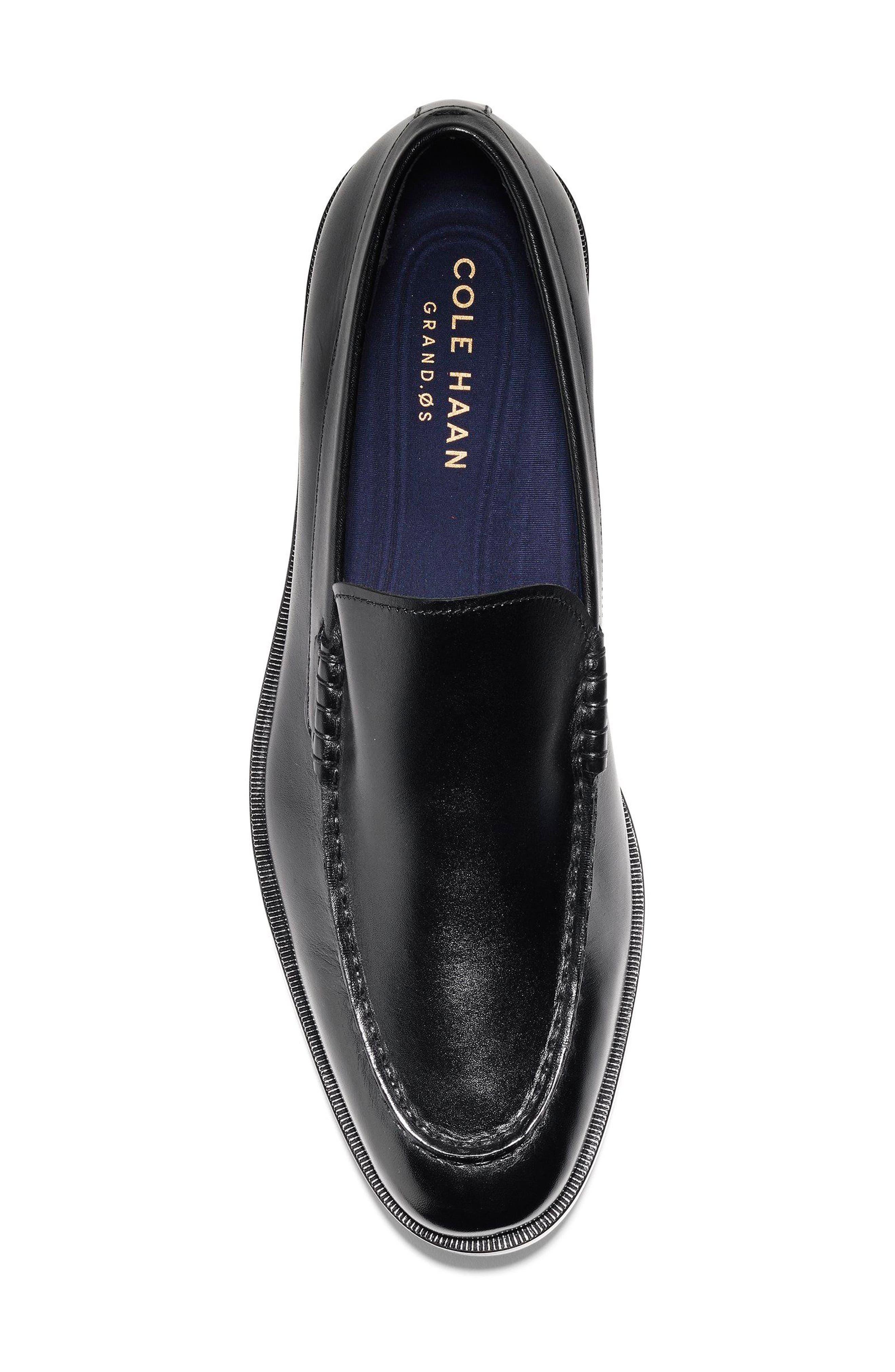 Hamilton Grand Venetian Loafer,                             Alternate thumbnail 5, color,                             BLACK