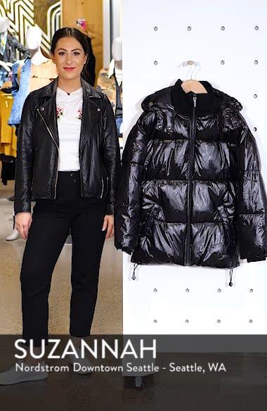 Glossy Puffer Coat, sales video thumbnail