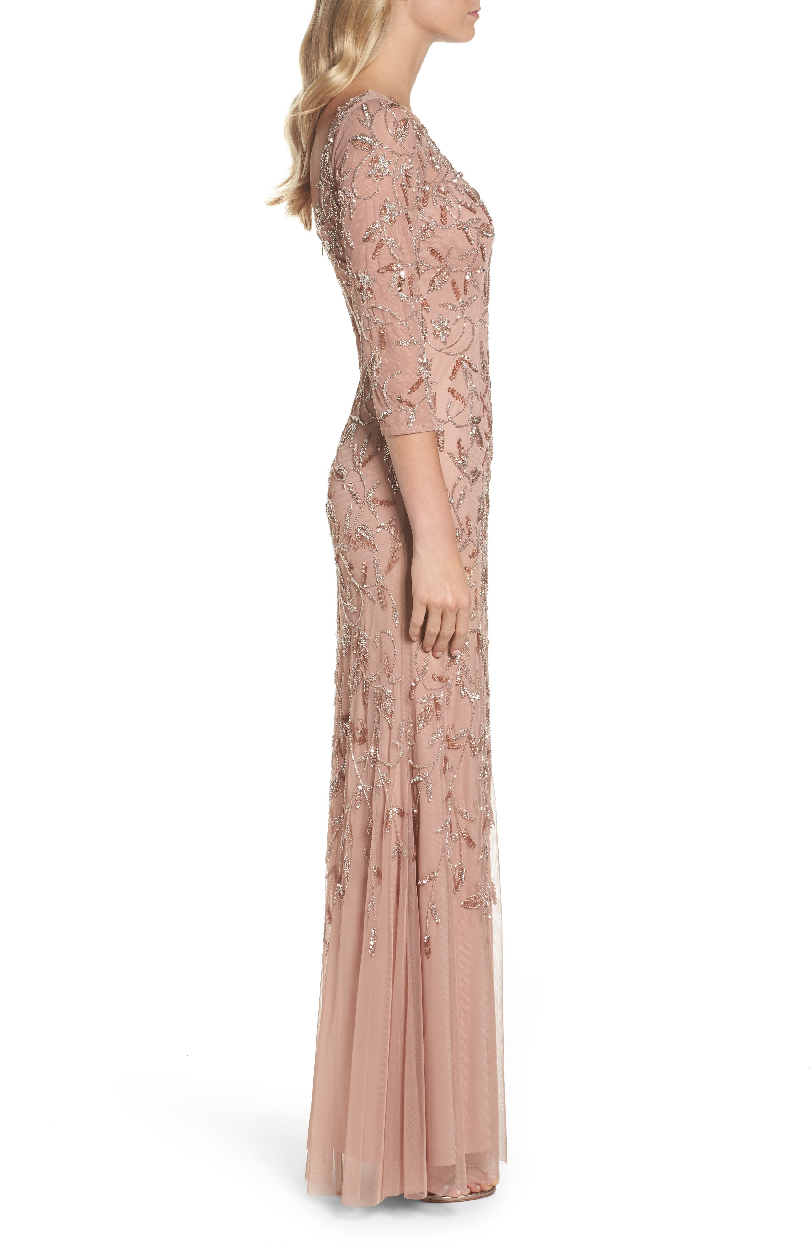 Beaded A-Line Gown,                             Alternate thumbnail 5, color,