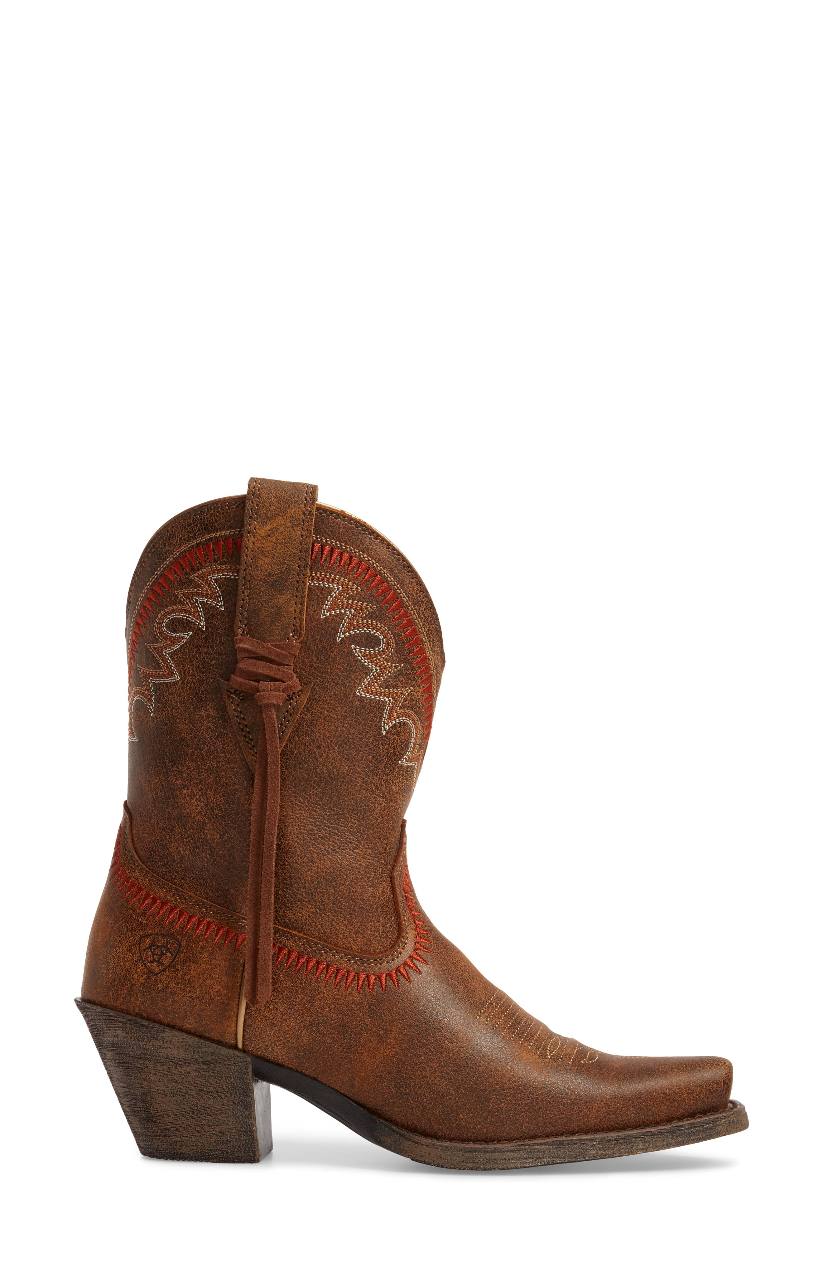 Round Up Western Boot,                             Alternate thumbnail 3, color,                             AZTEC VINTAGE BOMBER