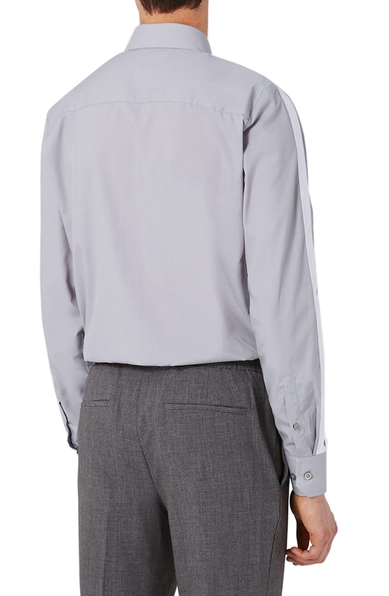Slim Fit Contrast Stripe Woven Shirt,                             Alternate thumbnail 2, color,                             020