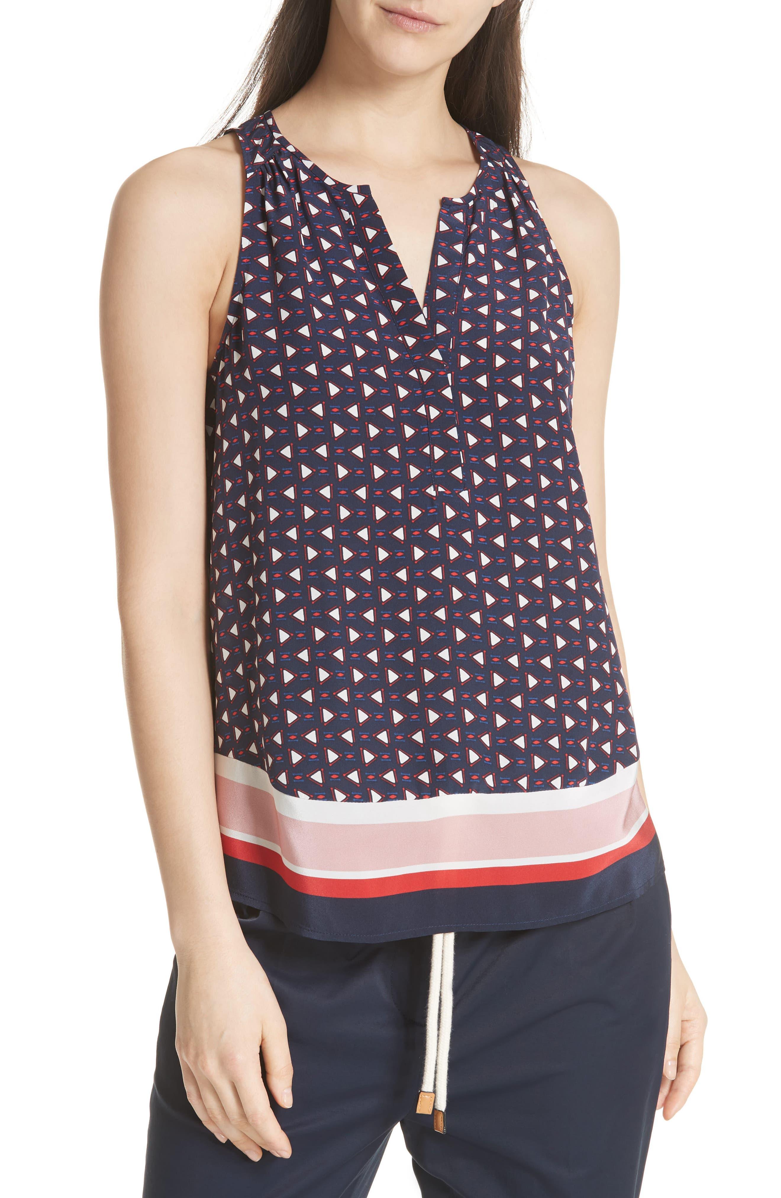 Xandry B Silk Top,                         Main,                         color, 410