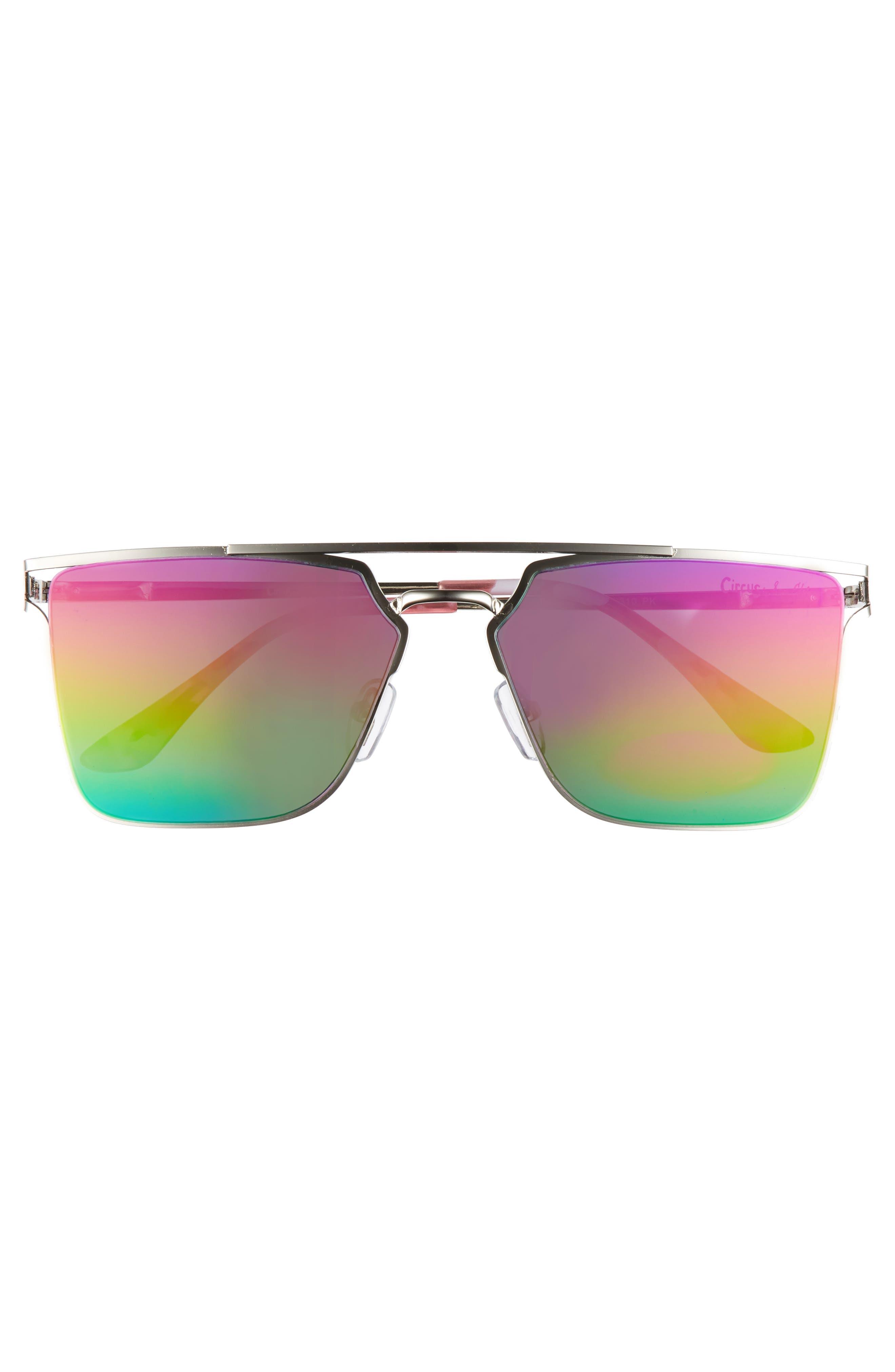 56mm Flat Top Sunglasses,                             Alternate thumbnail 9, color,