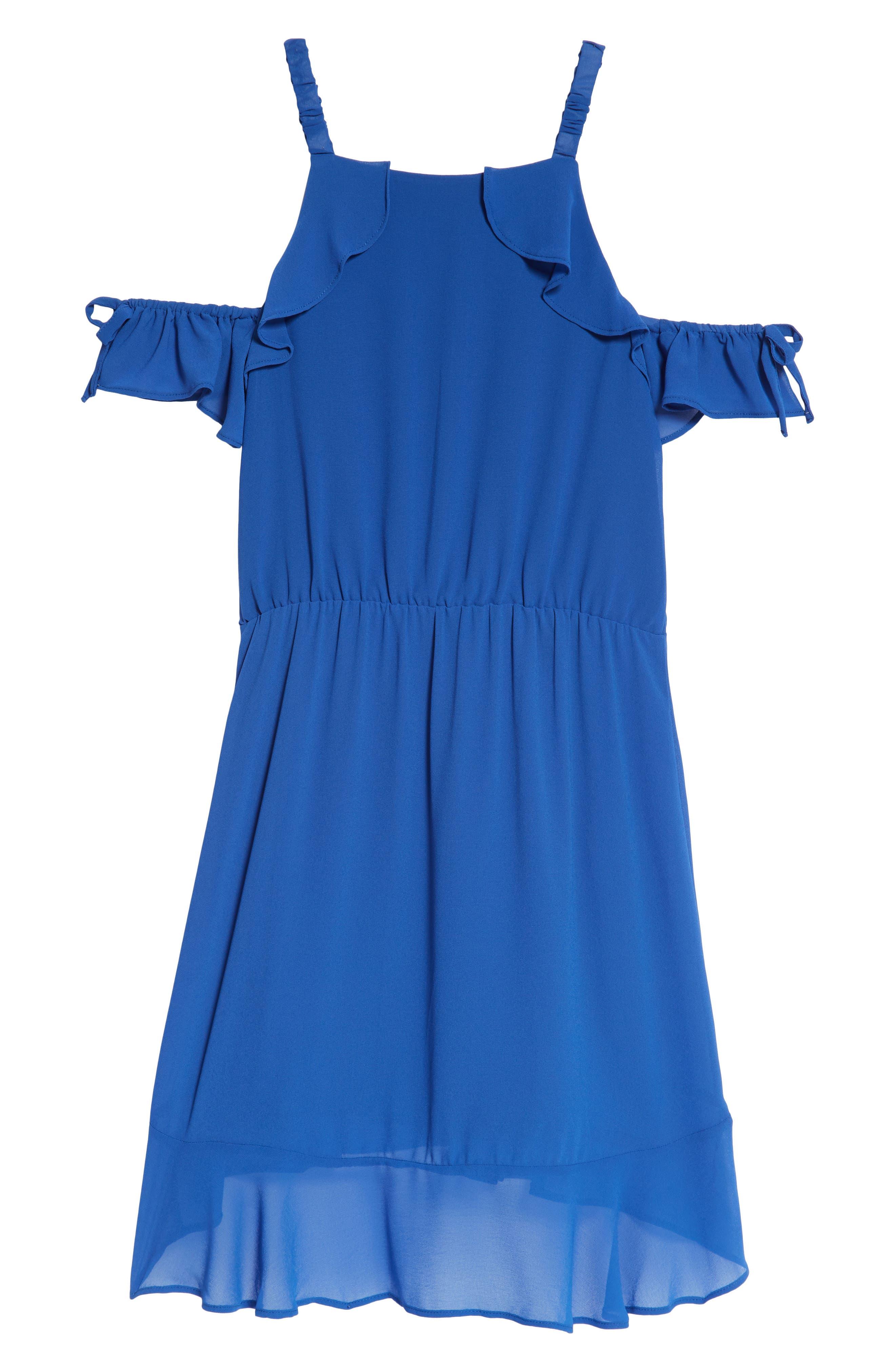 Ruffle Cold Shoulder Dress,                             Alternate thumbnail 2, color,                             481