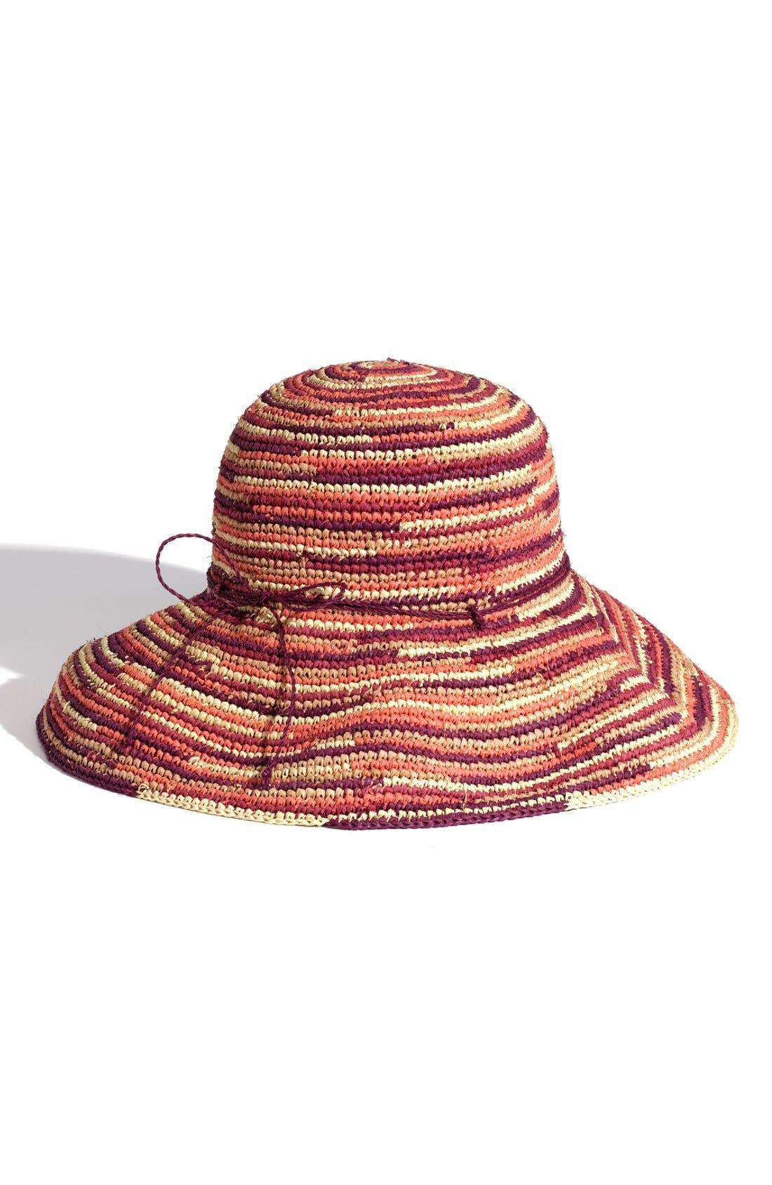 'Provence 12' Packable Raffia Hat,                             Main thumbnail 8, color,