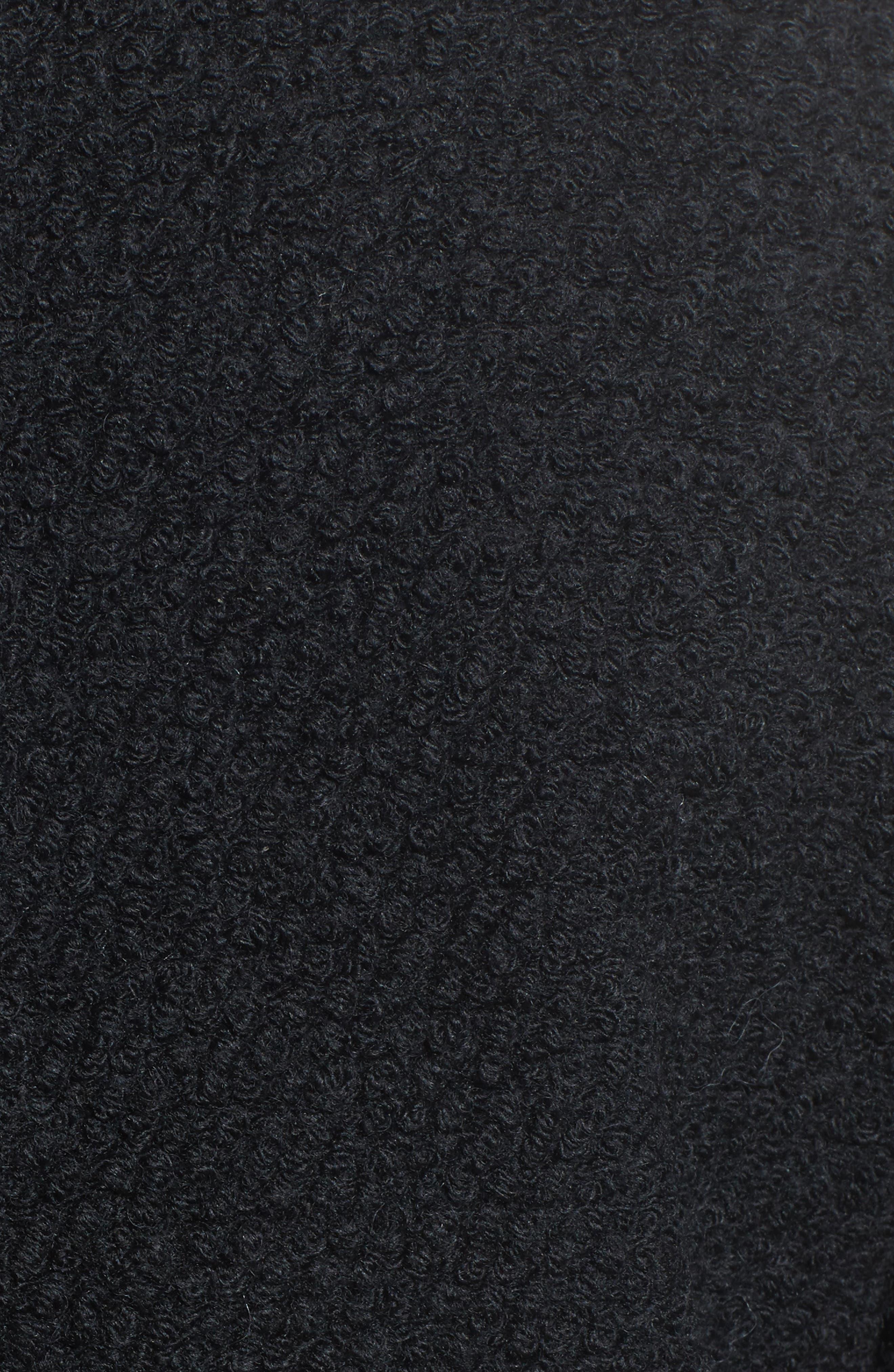 Notch Collar Bouclé Car Coat,                             Alternate thumbnail 6, color,                             001