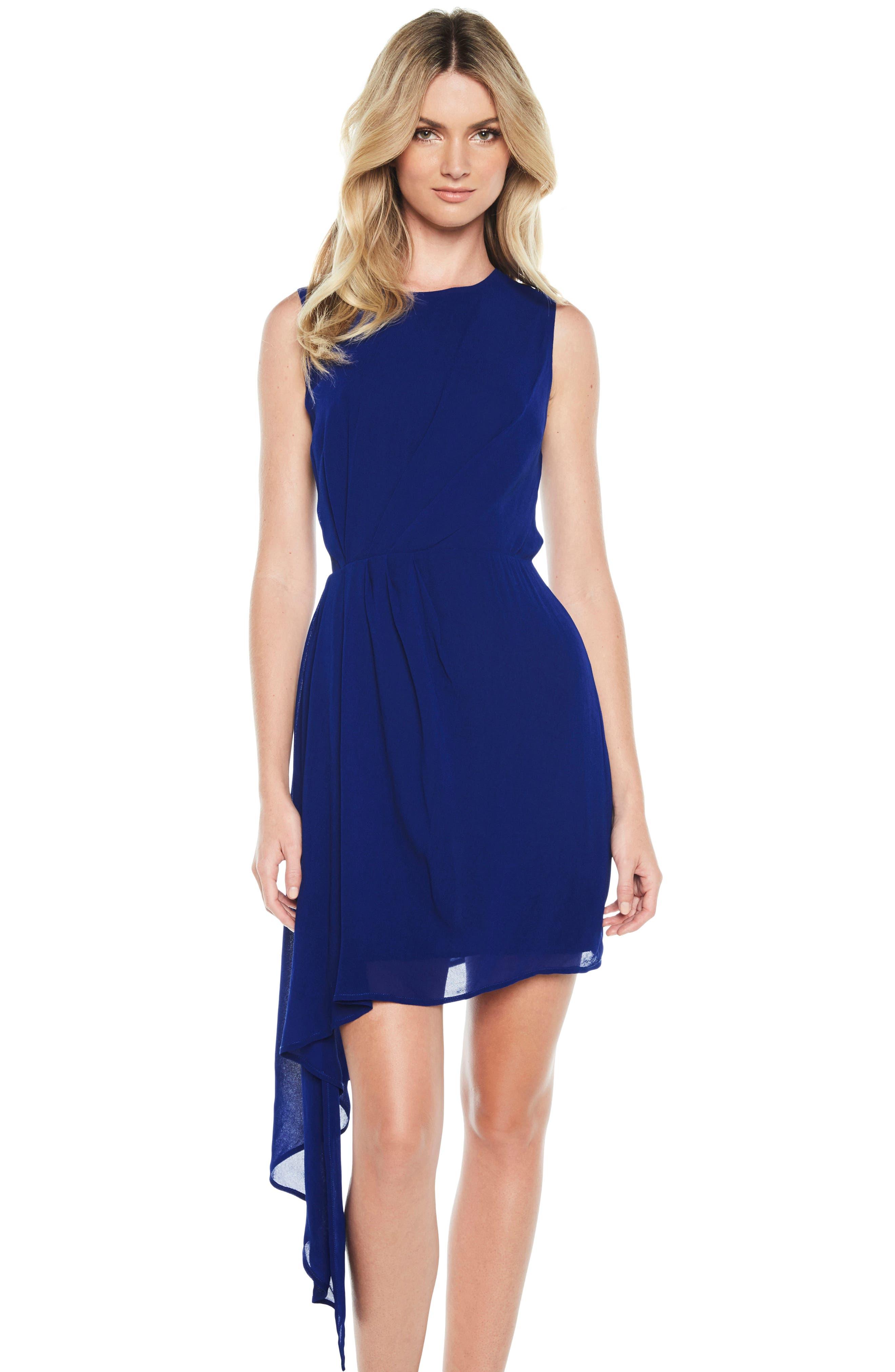 Stilla Asymmetrical Hem Dress,                             Alternate thumbnail 5, color,                             429