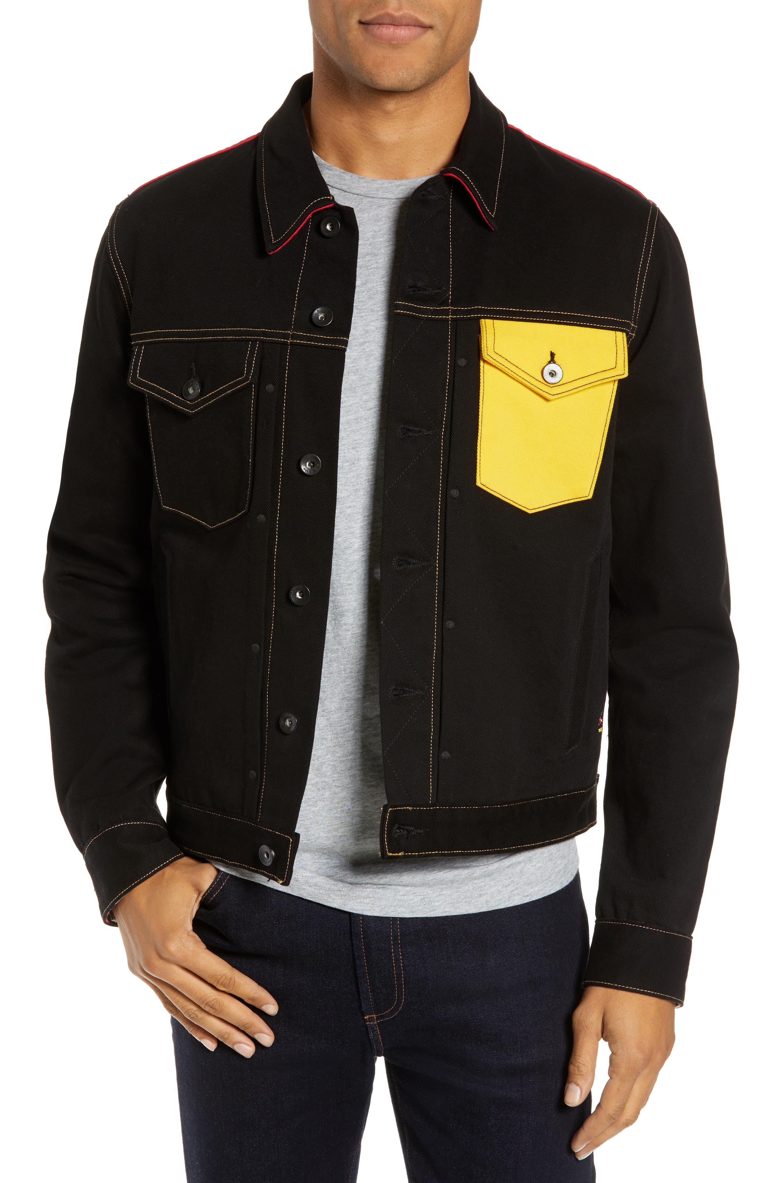 Mickey Mouse Unisex Denim Jacket, Main, color, 001
