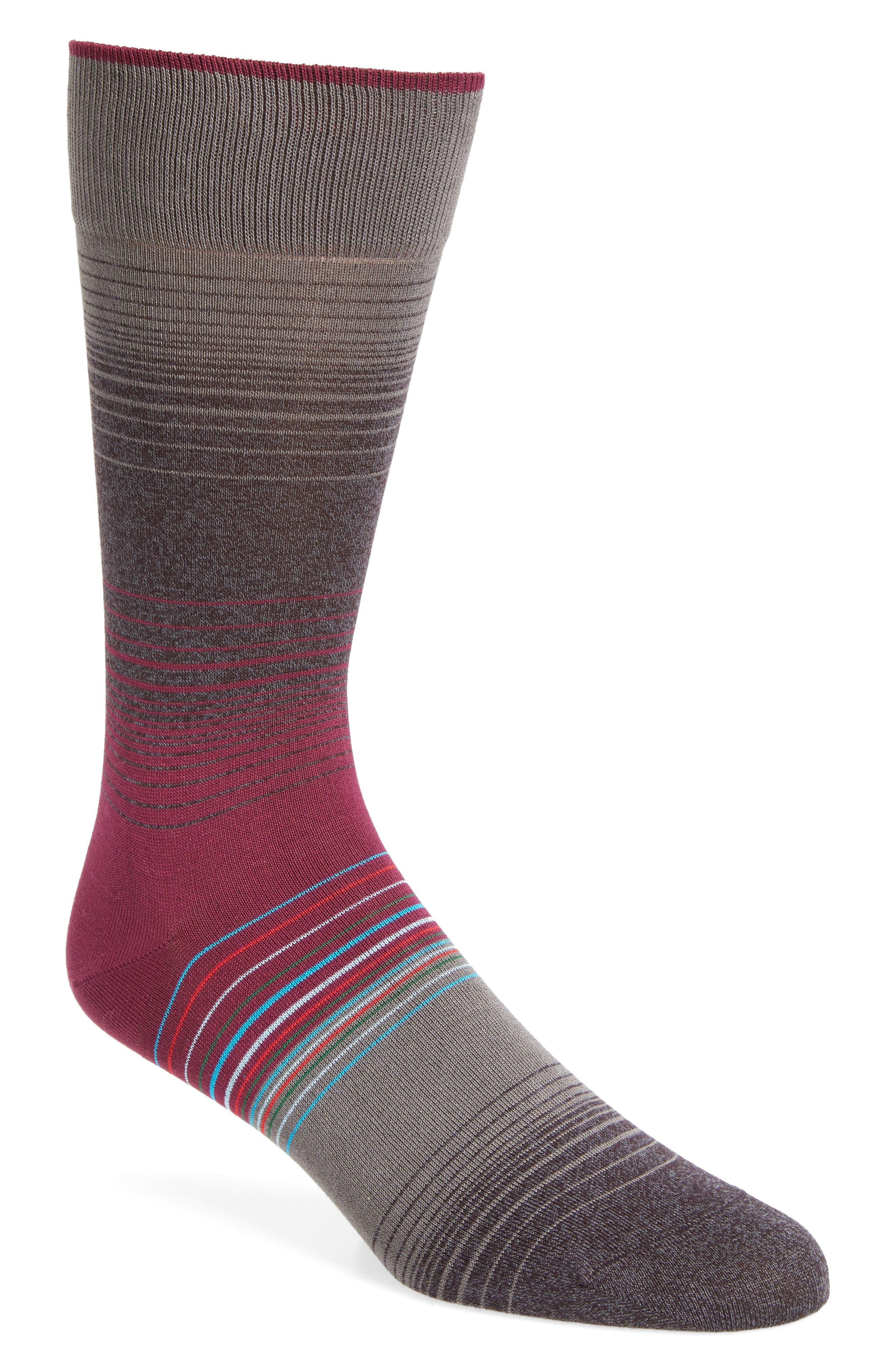 Ombré Stripes Crew Socks,                             Main thumbnail 3, color,